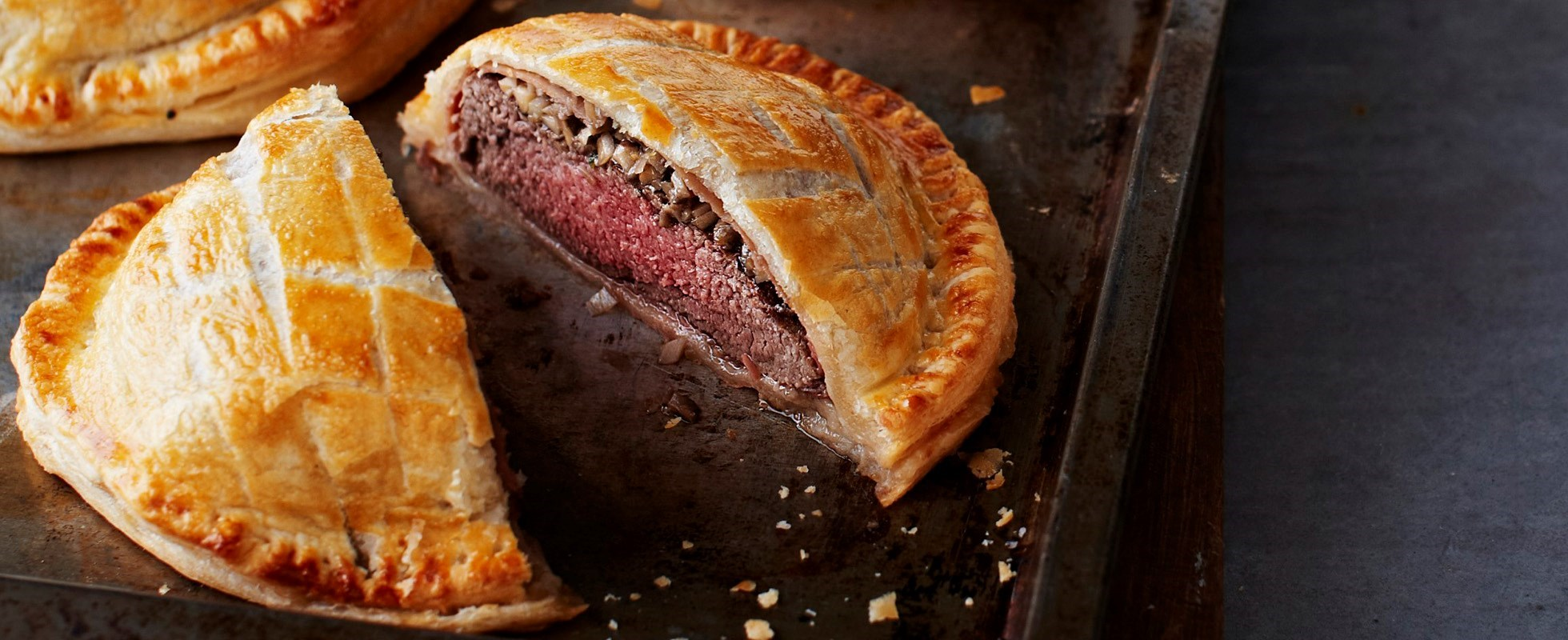 beef and mushroom wellington