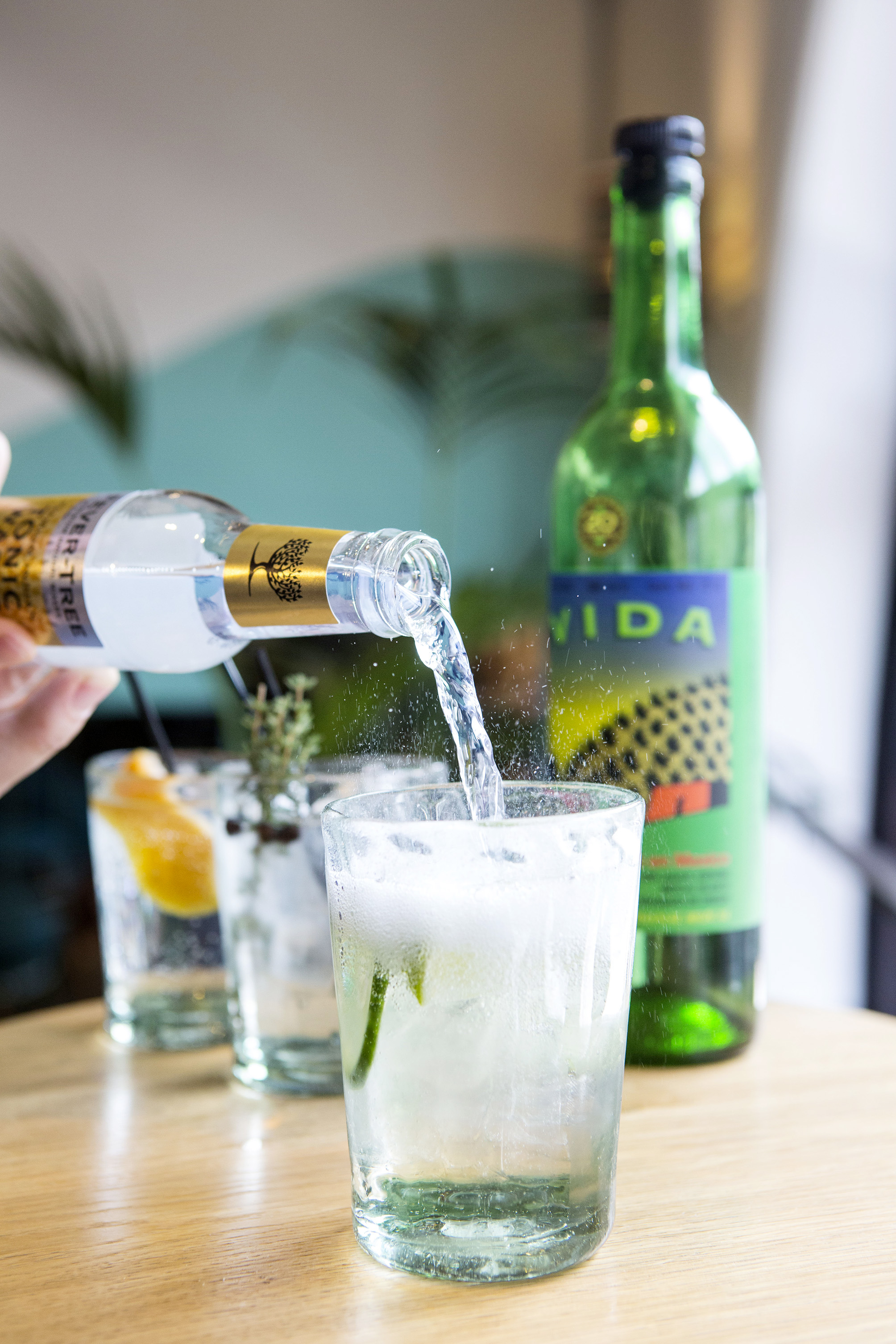 Fevertree tonic water and mescal