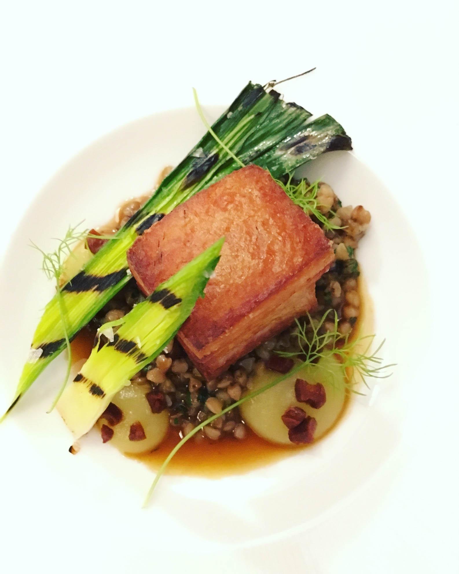 Pork belly starter, Lovage Restaurant