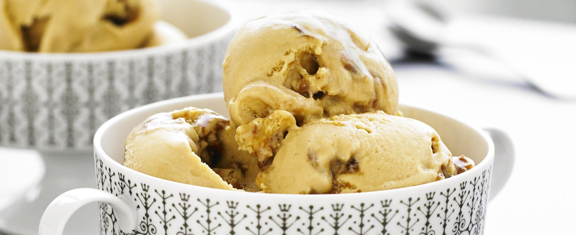 Peanut butter and salted caramel ice cream