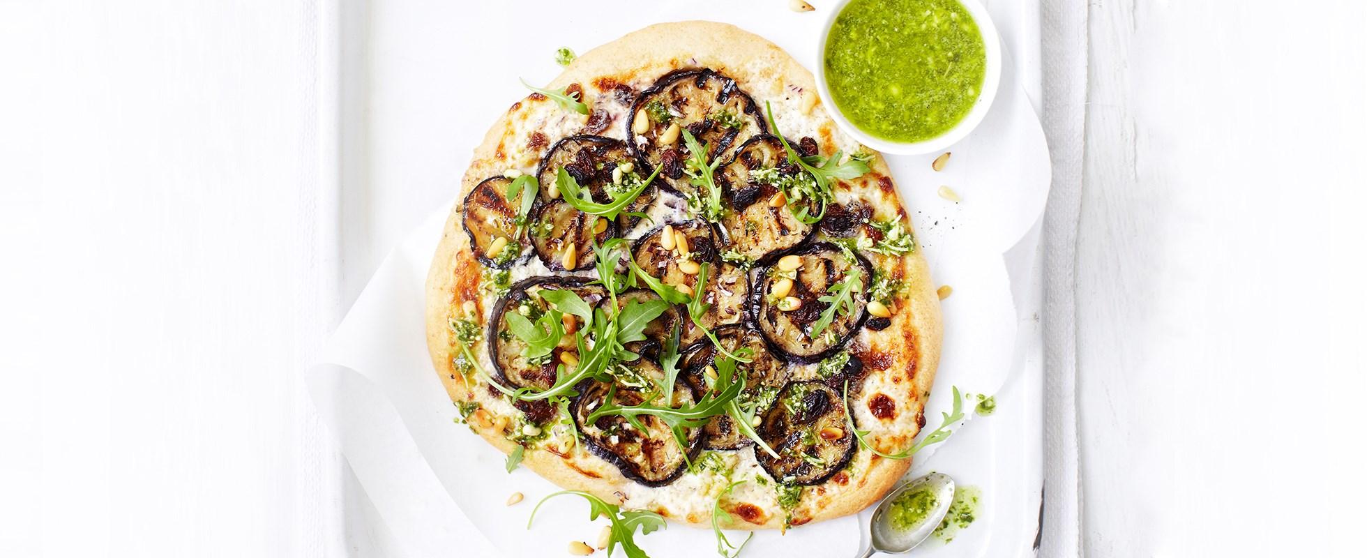 Sicilian aubergine pizzas