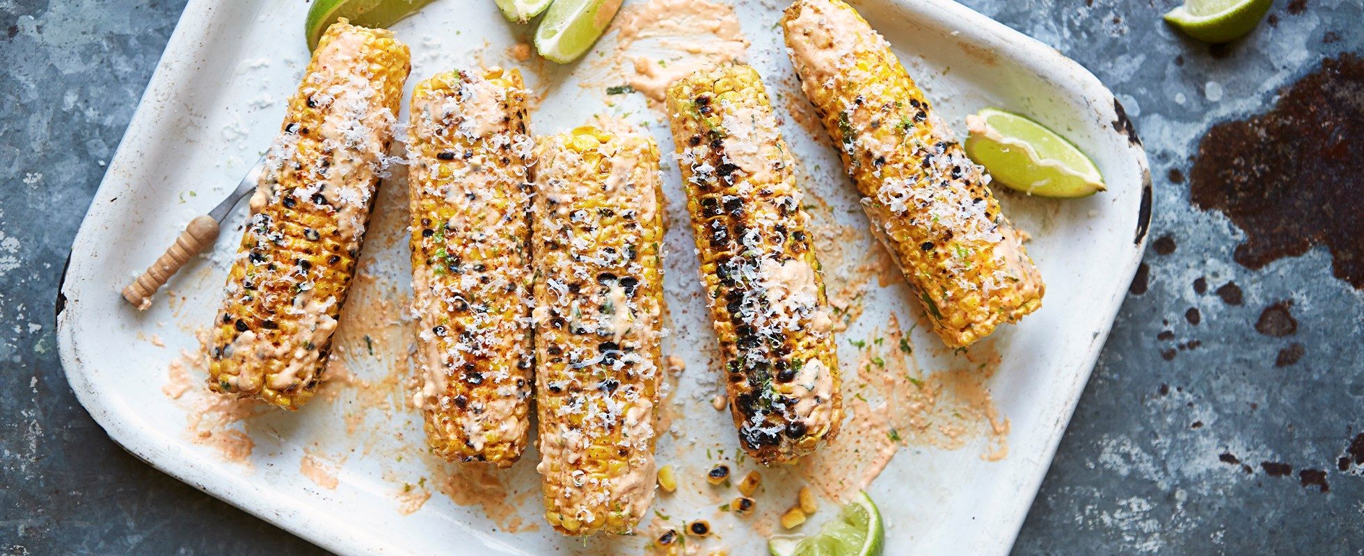 Spiced corn on the cob