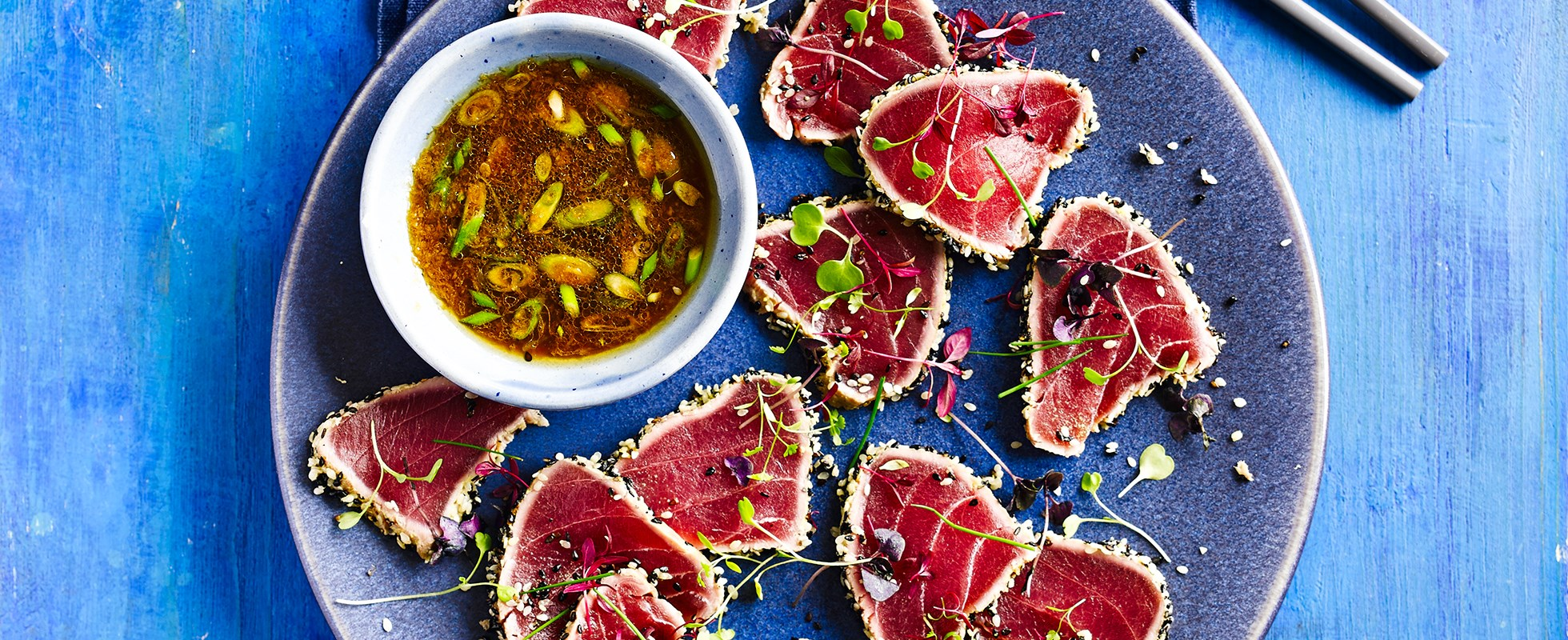 Best ever asian dinner party recipes olive magazine seared tuna tataki this simple asian forumfinder Gallery