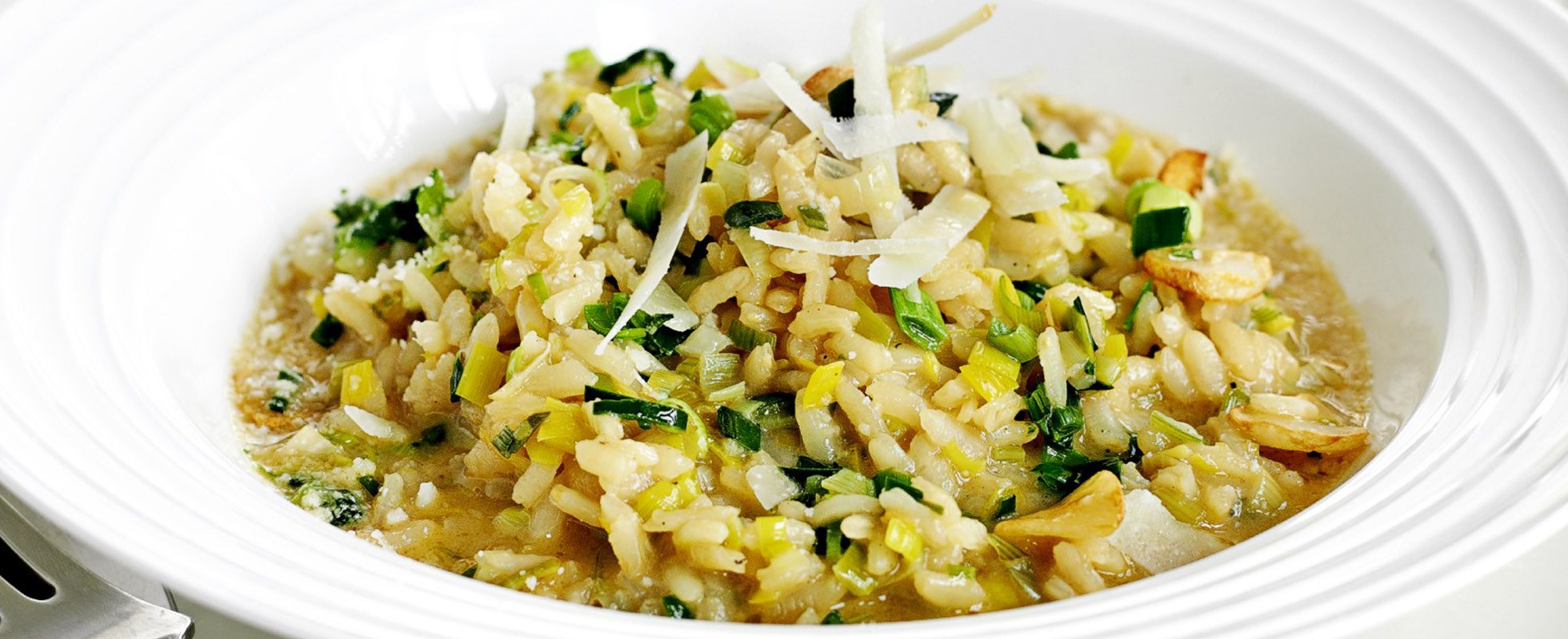 Leek and parmesan risotto