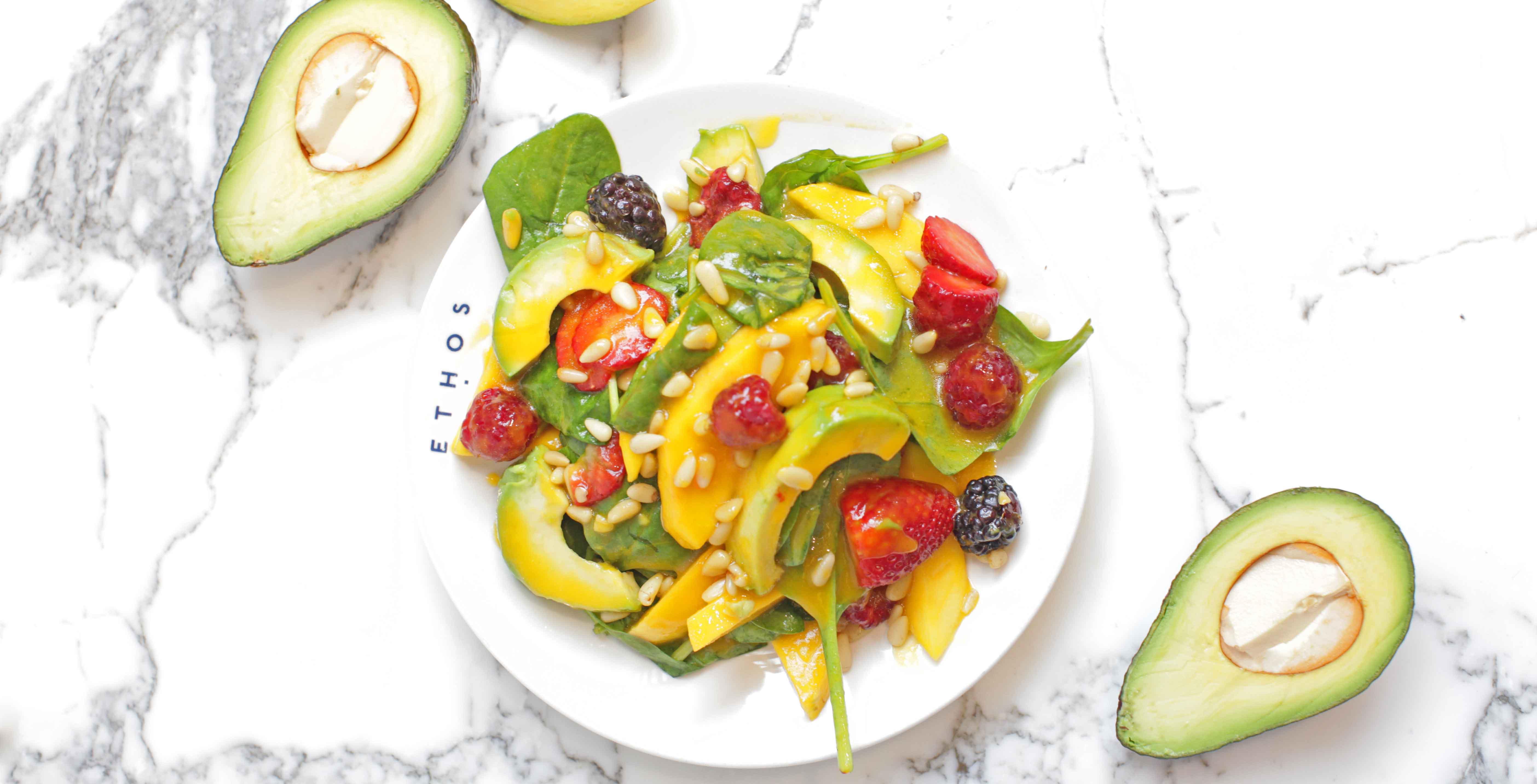 Vegetarian salad at Ethos, London