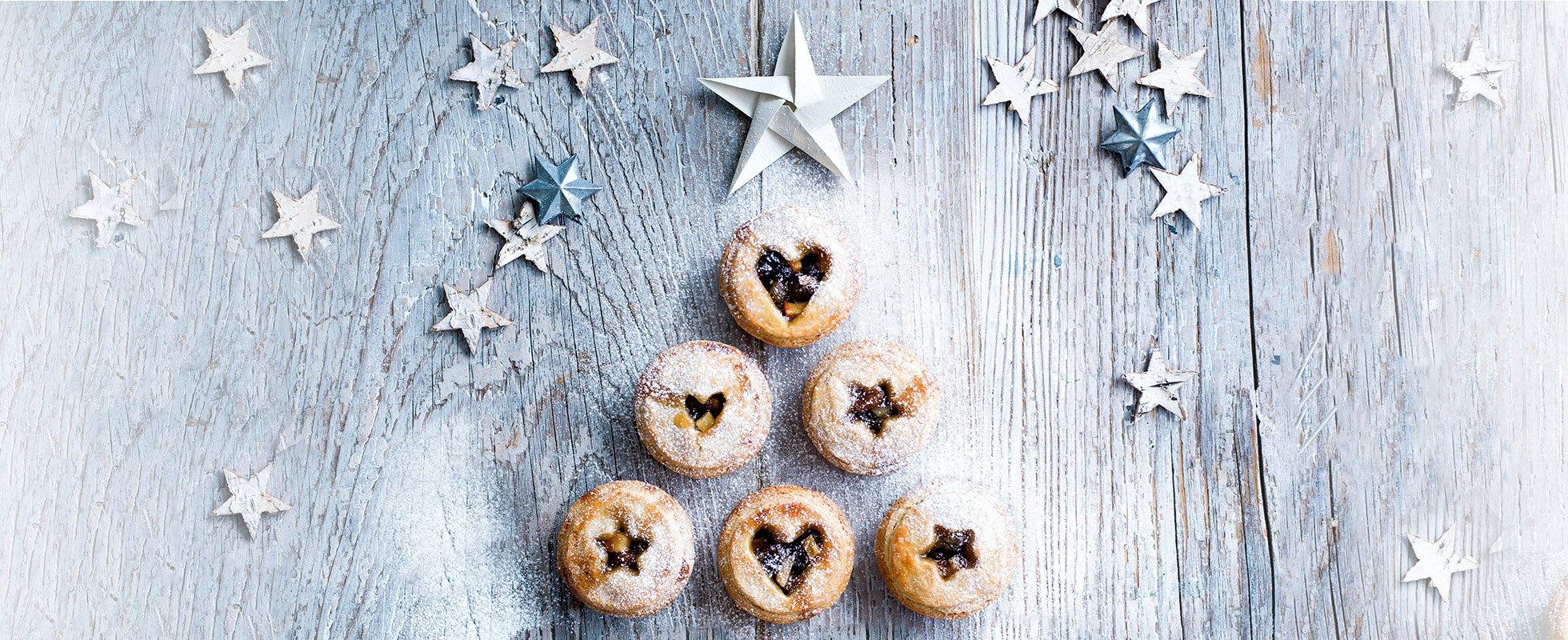 Mince pies with shortbread pastry