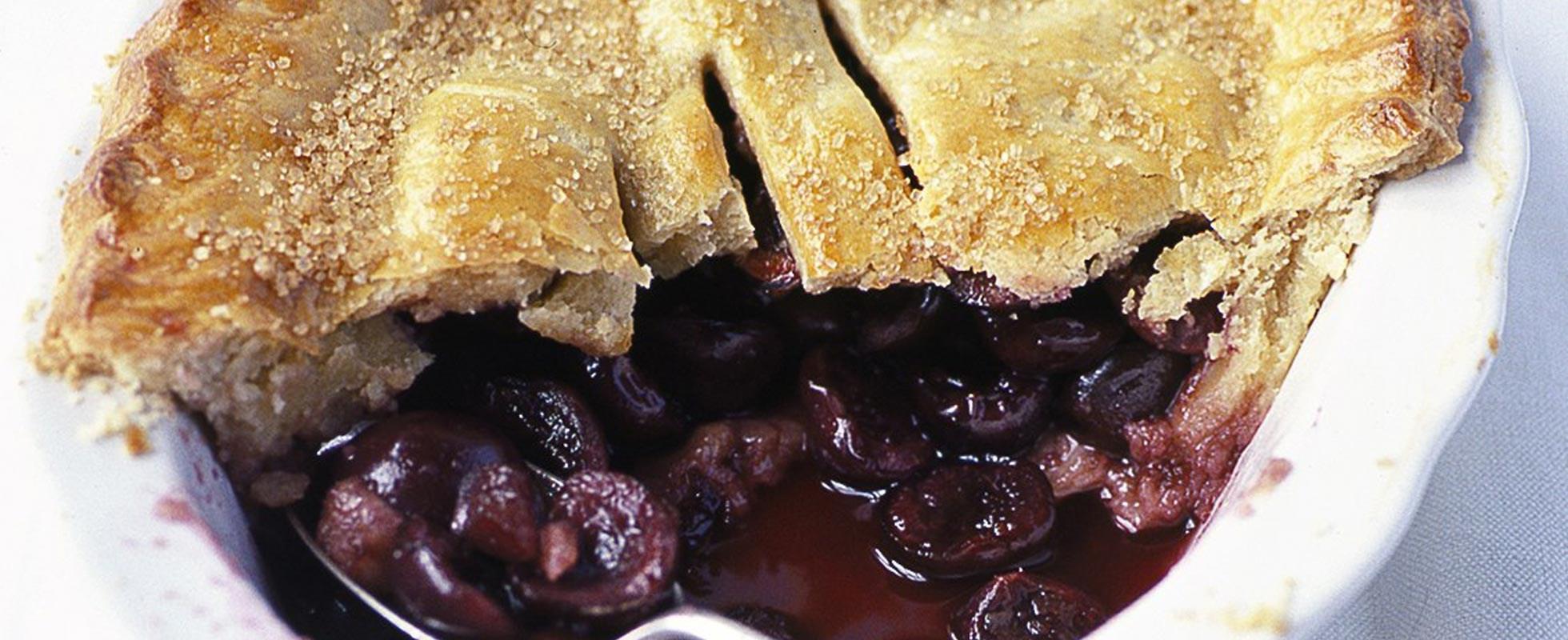 Sugar crust cherry pie