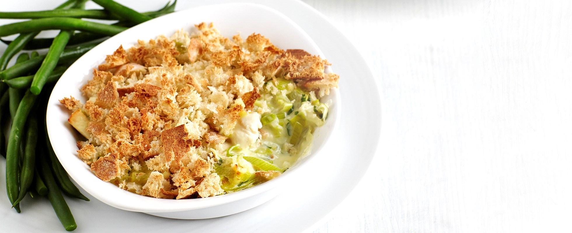 Healthier chicken and leek pie - healthy chicken recipe