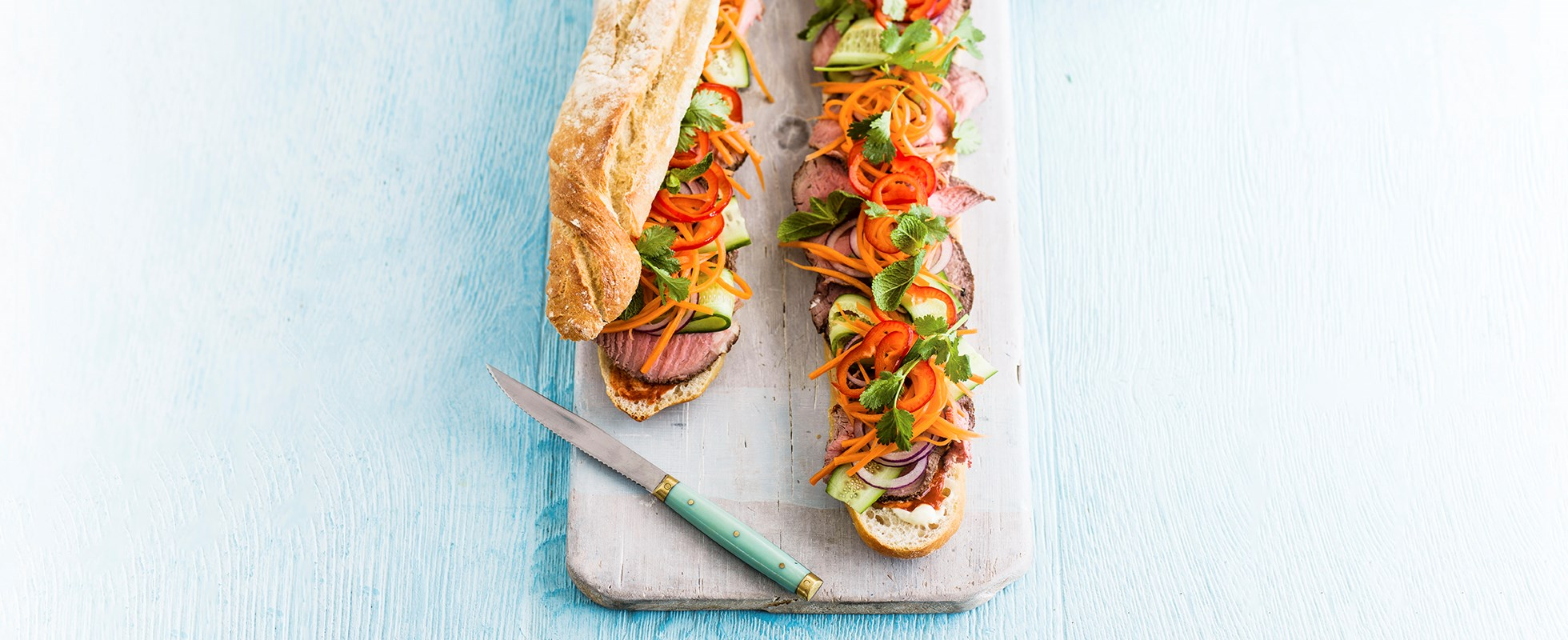 Best ever asian street food recipes olive magazine olive magazine this version is packed with delicious flavours and looks fantastic with so many colourful ingredients take a look at our video recipe for banh mi forumfinder Choice Image