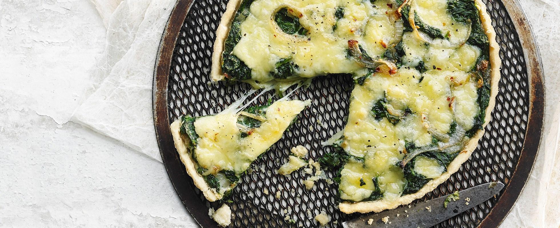 Spinach and fontina tart