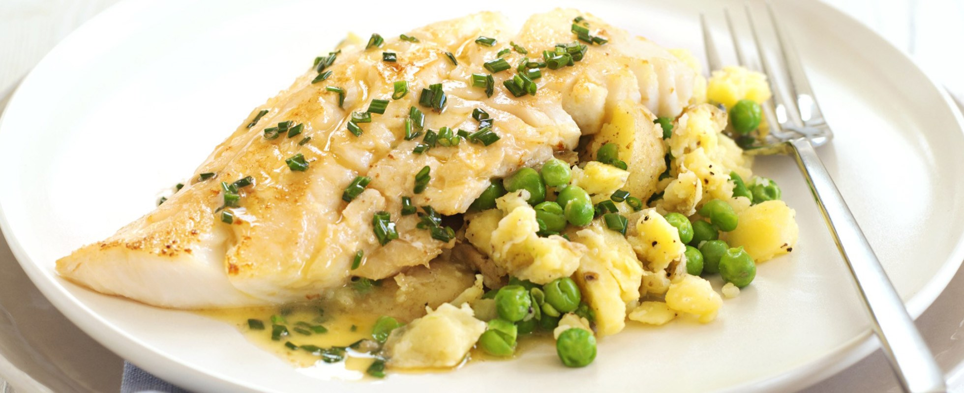 Smoked haddock with chive