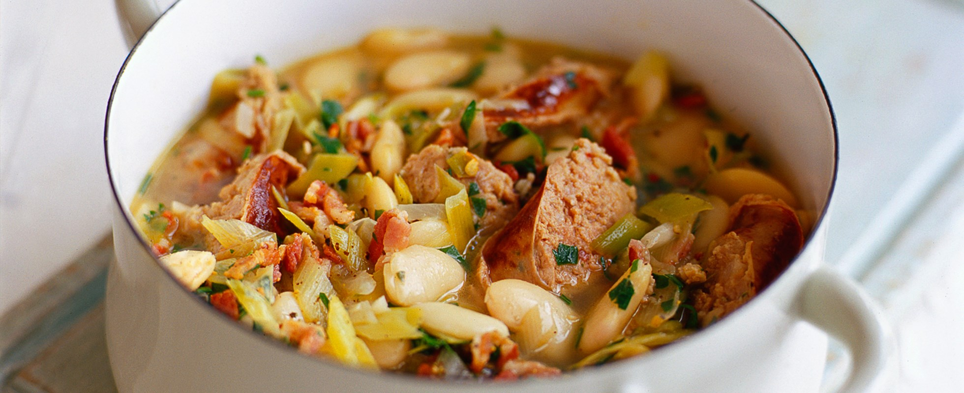 Toulouse sausage and butter bean casserole