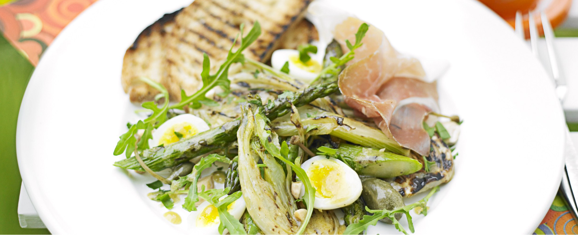 Chargrilled asparagus and fennel salad