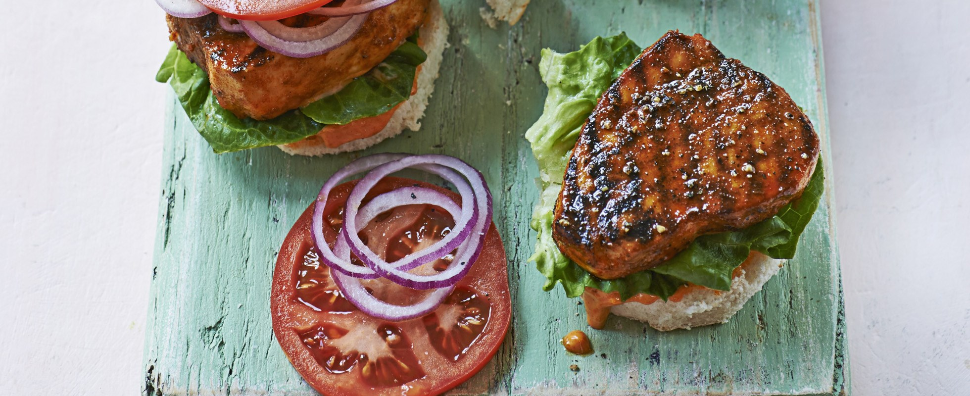 Miami-style blackened fish sandwich