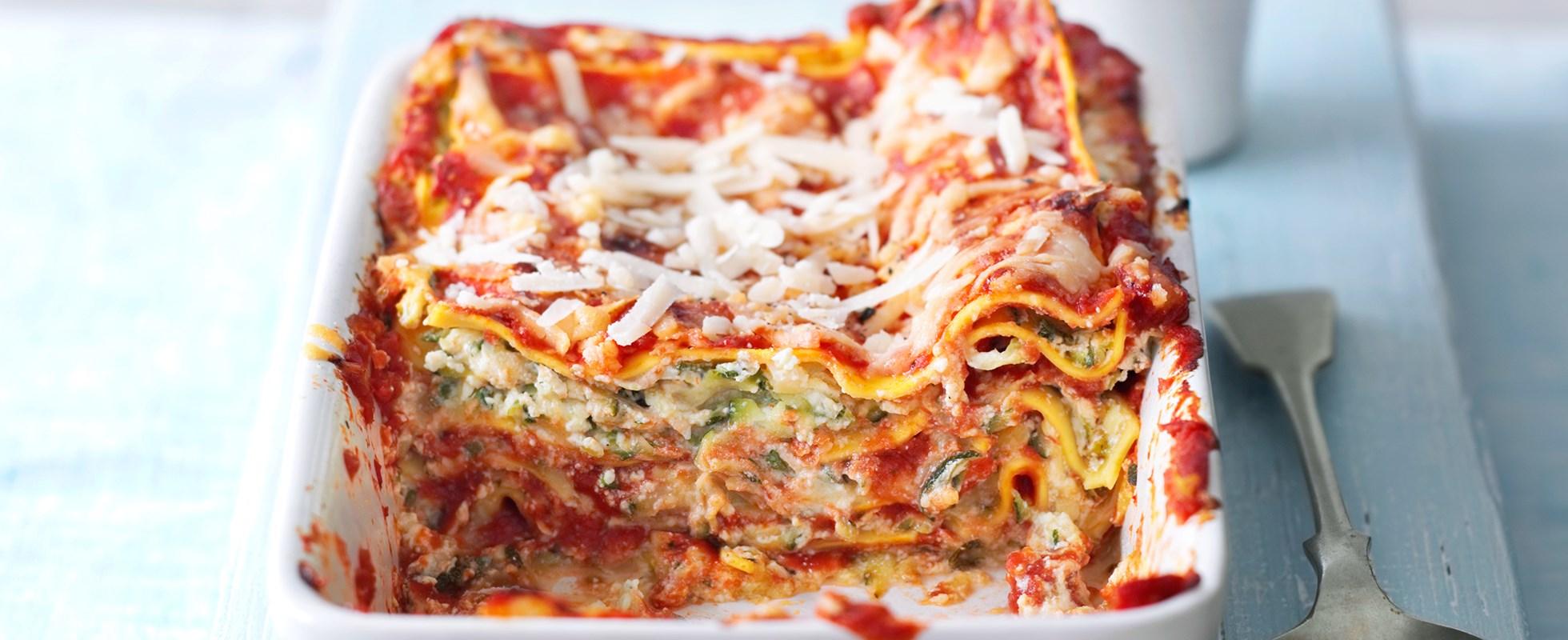 Quick courgette lasagne