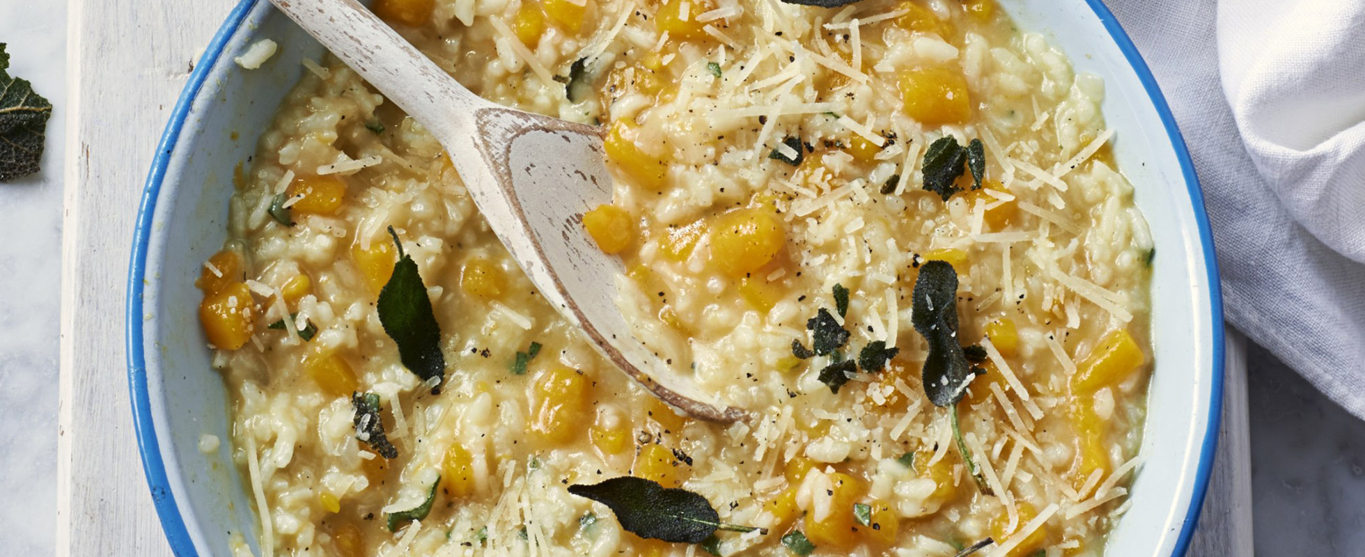 Butternut and sage risotto