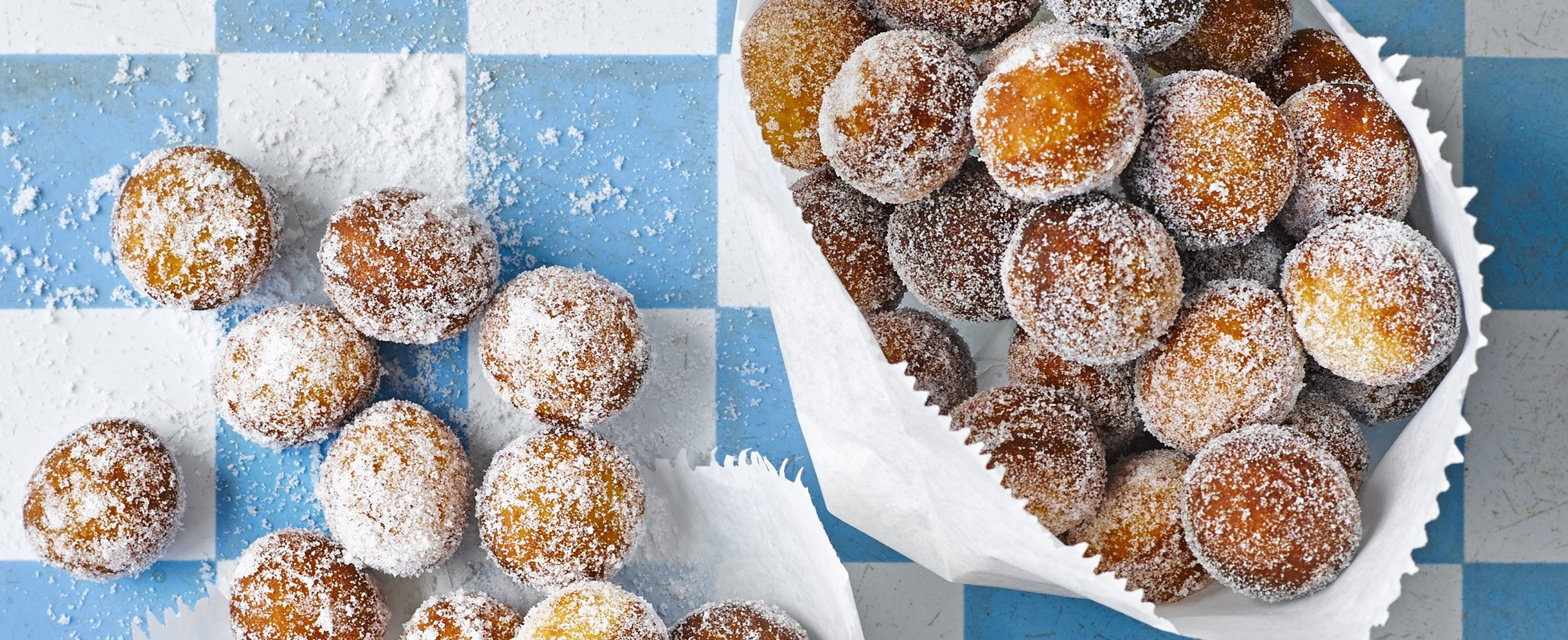 Donut holes with whiskey sauce