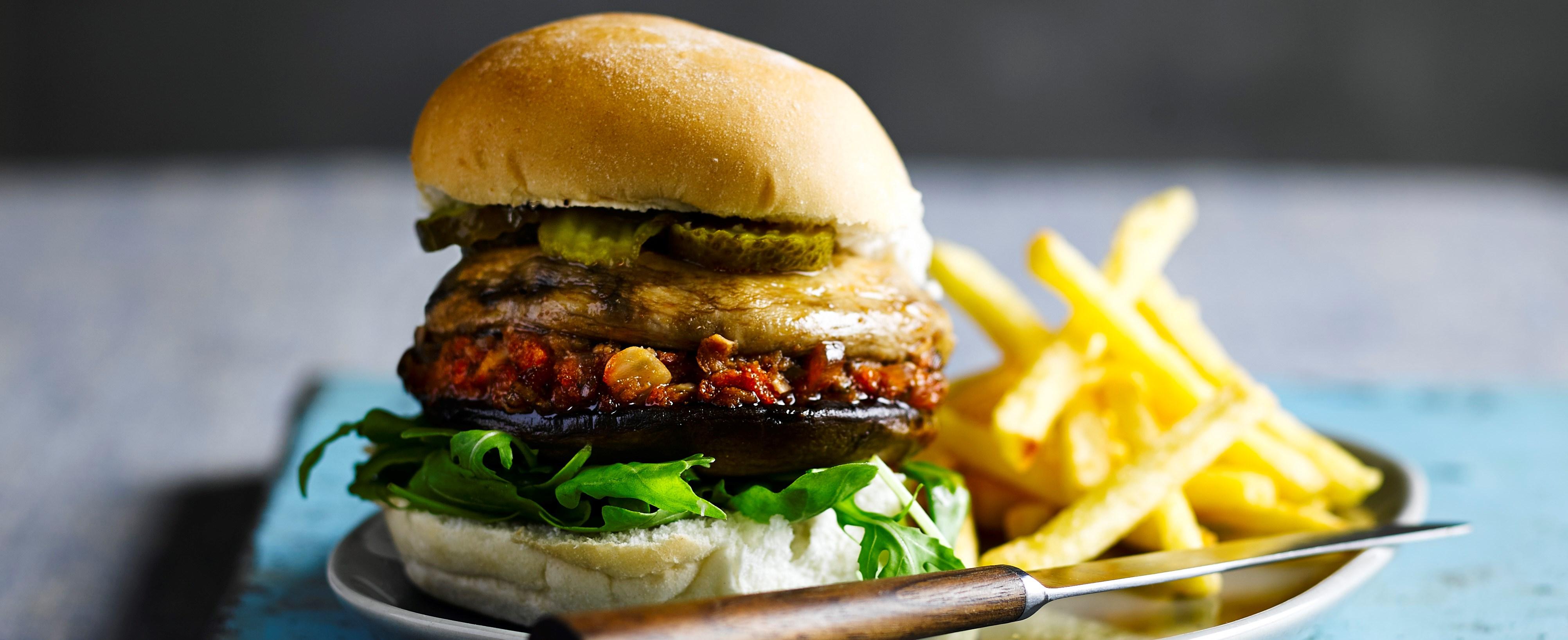 Double mushroom burger