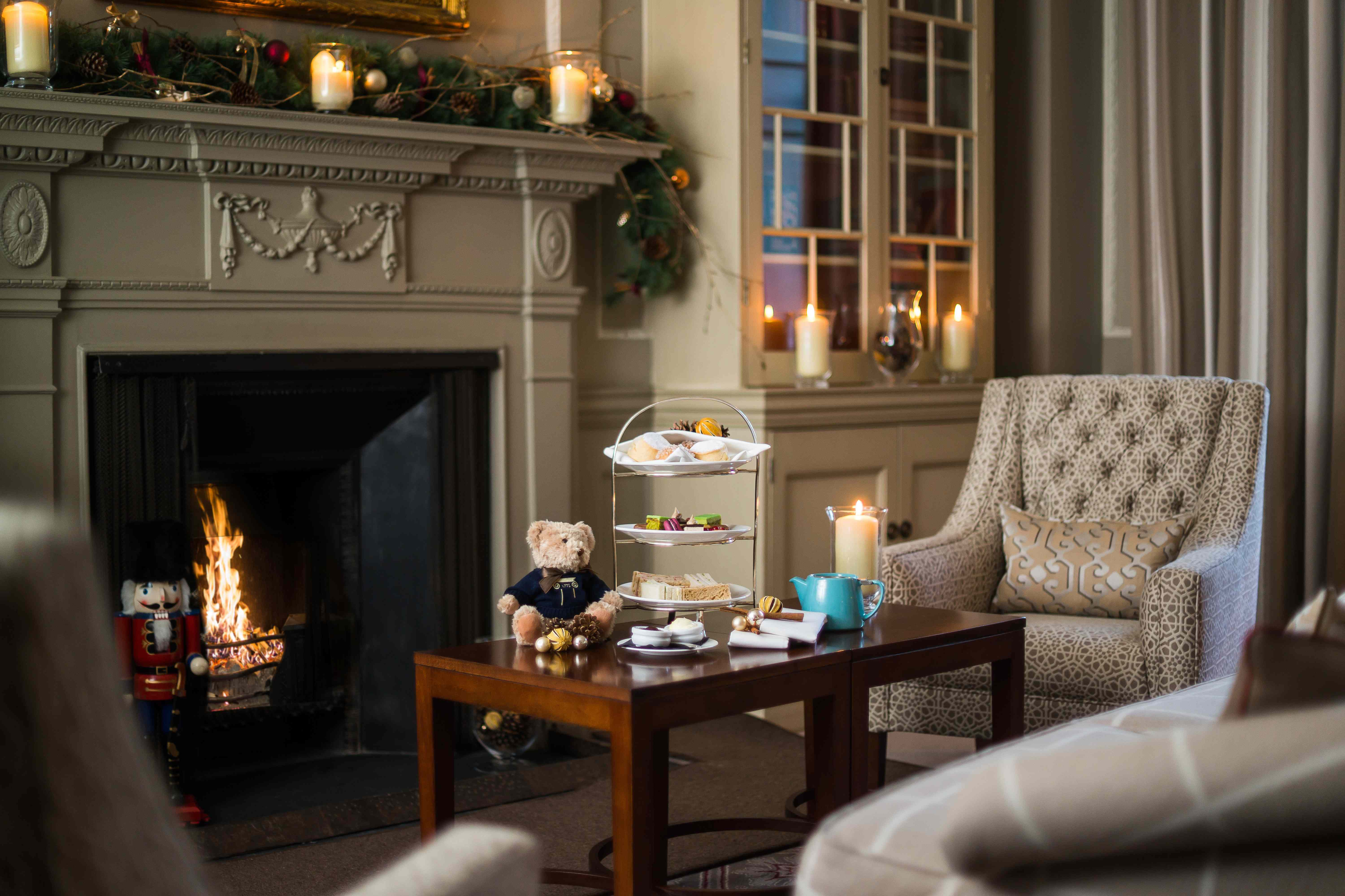 Afternoon Tea in Library at Royal Crescent Hotel, Bath