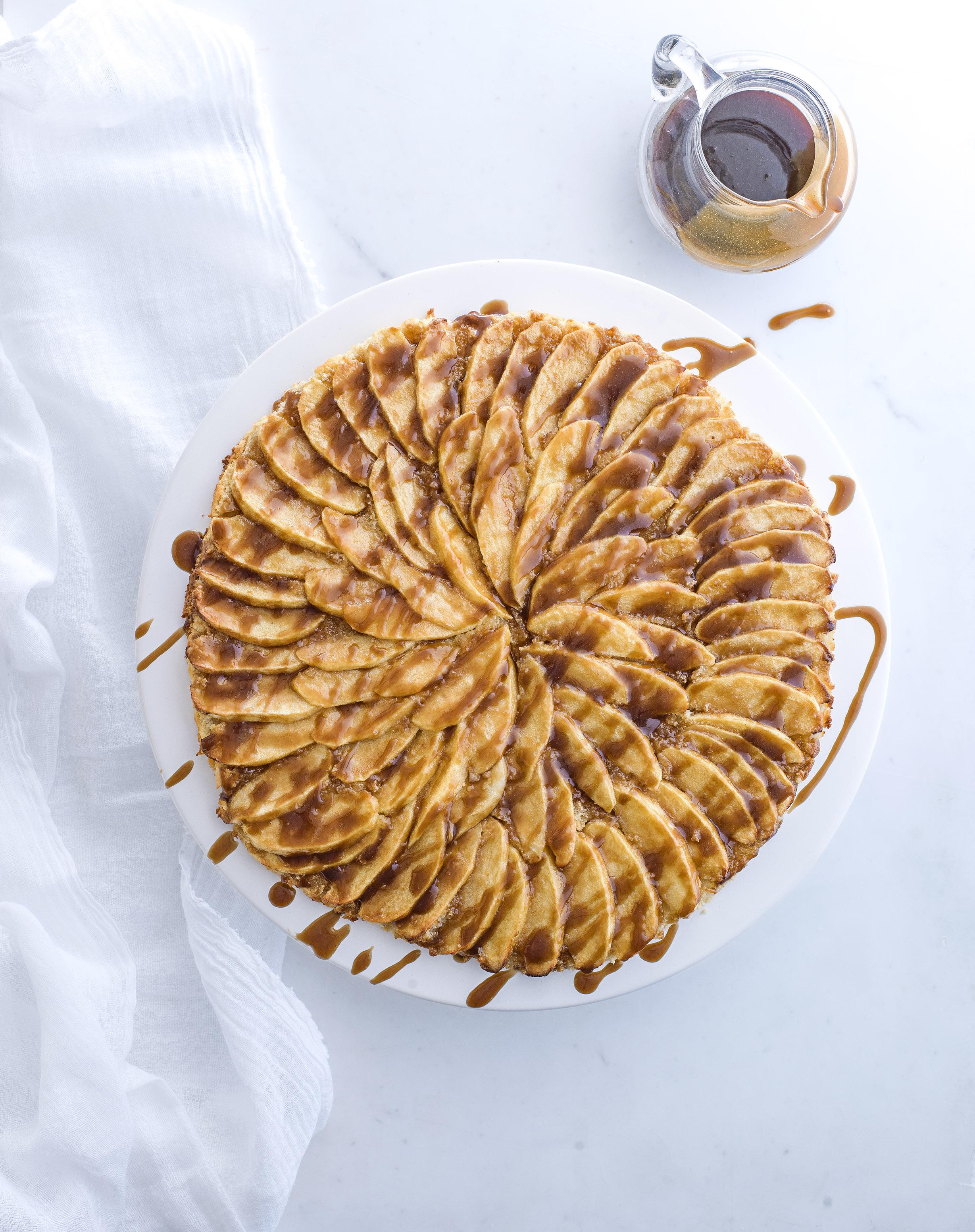 Salted butterscotch apple tart