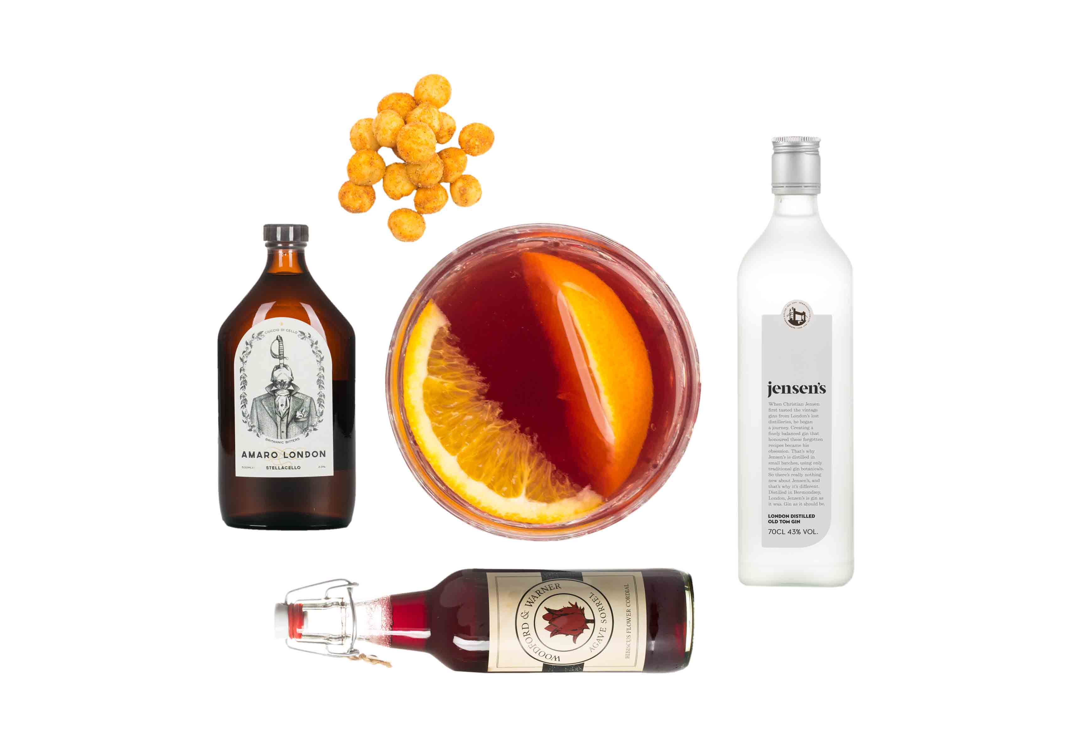 Craved Hibiscus negroni set