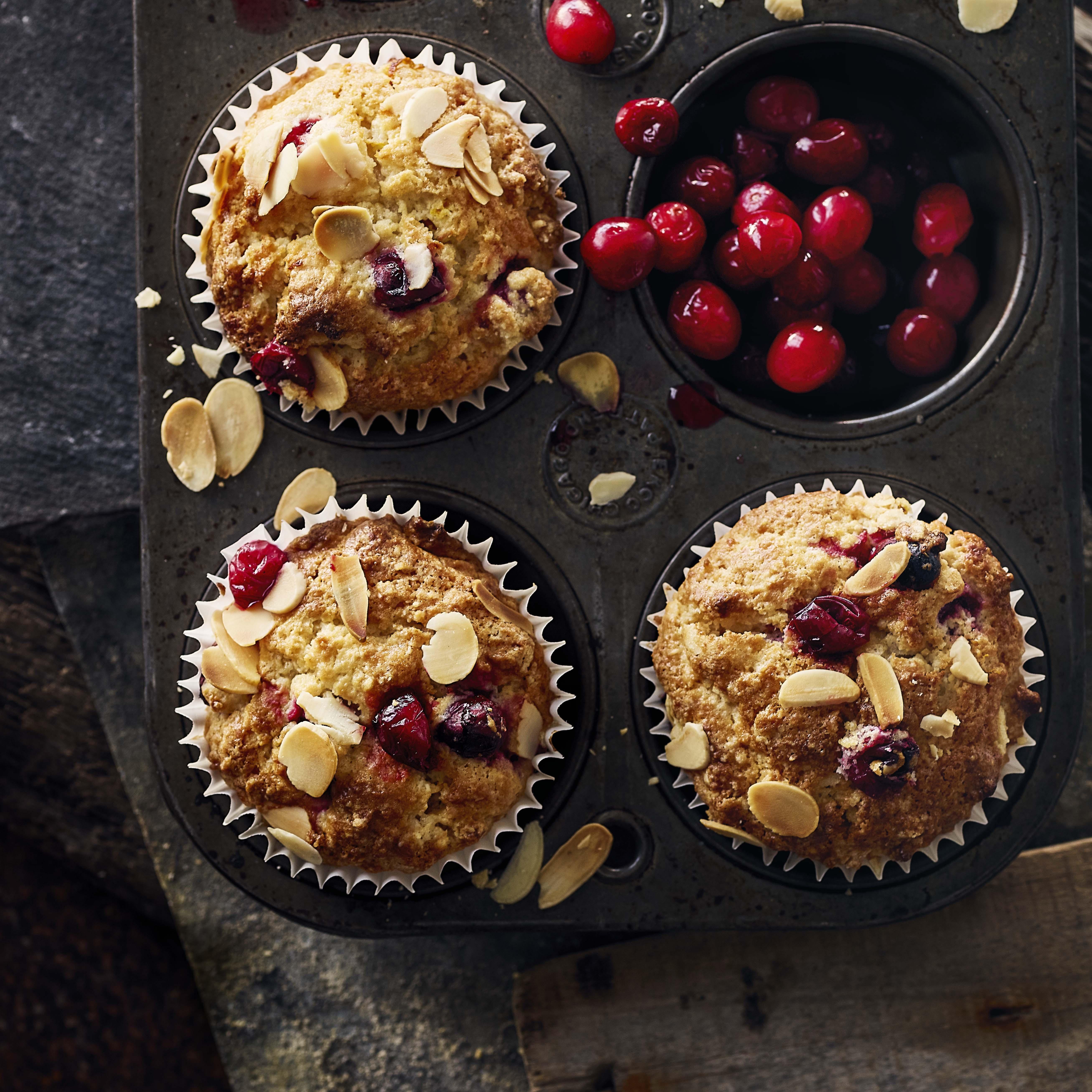 Cranberry And Almond Muffin Recipe