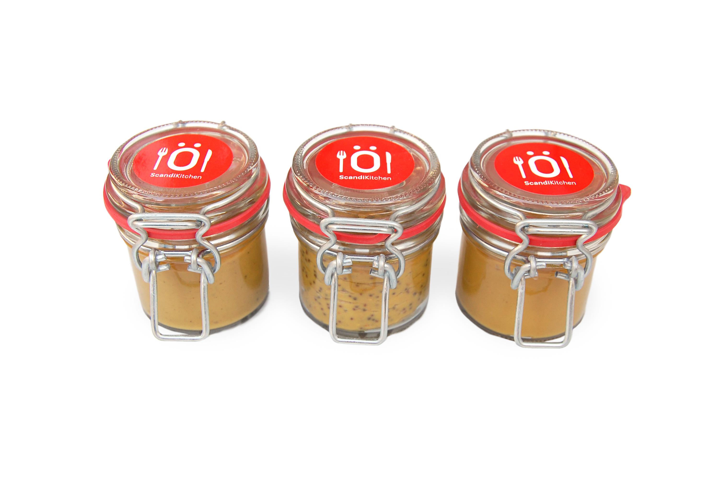 Mustard Trio Glass Jars
