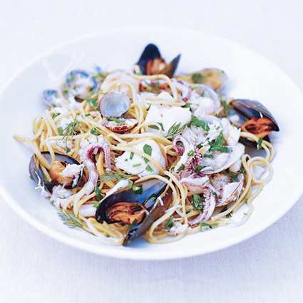 seafood pasta from fifteen cornwall watergate bay