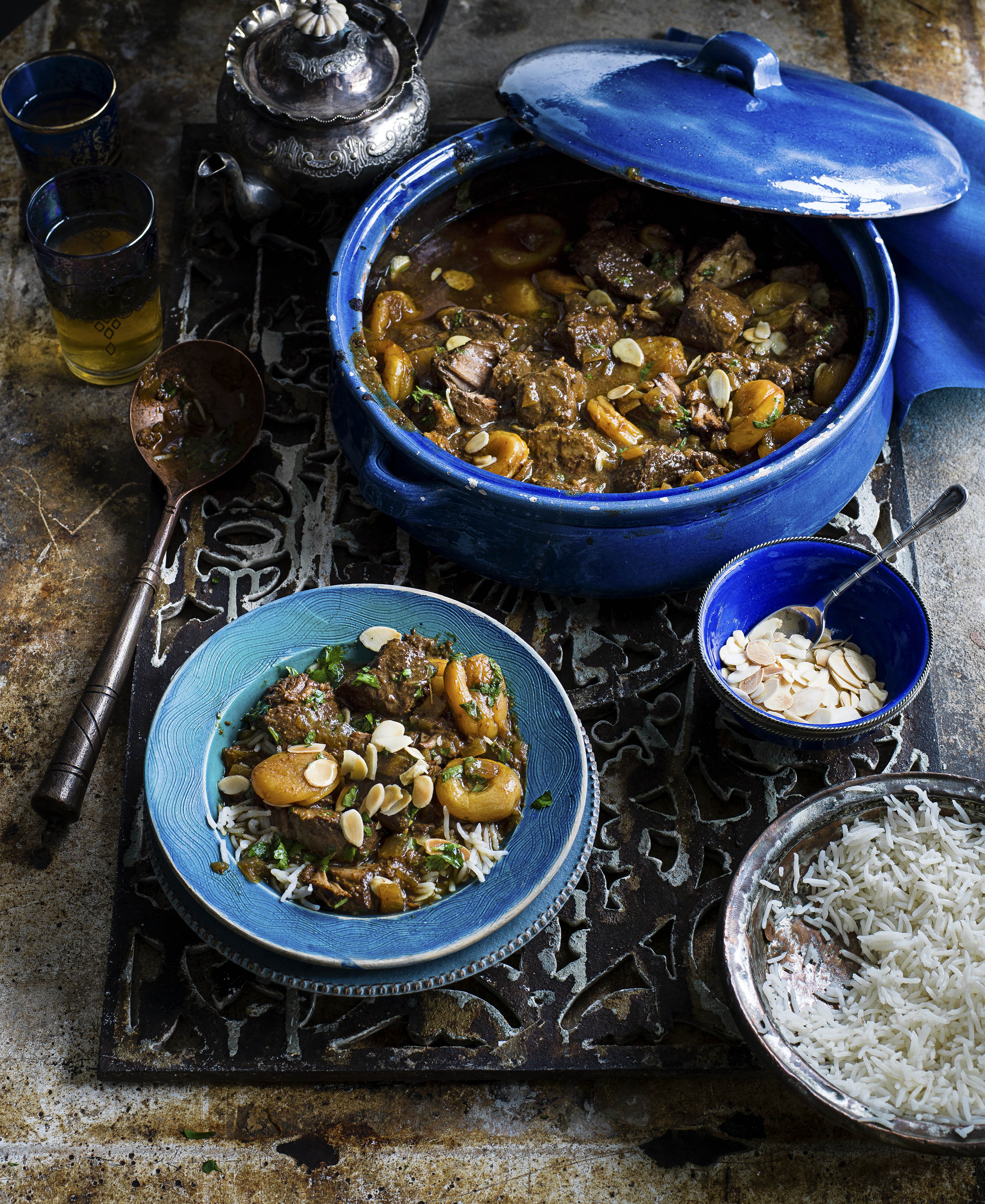 Slow cooked Pork, apricot and tamarind stew