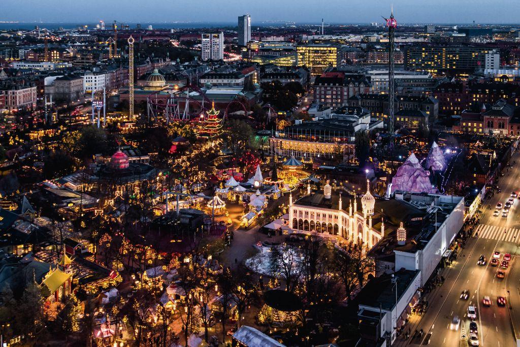 Aerial view of Tivoli Gardens