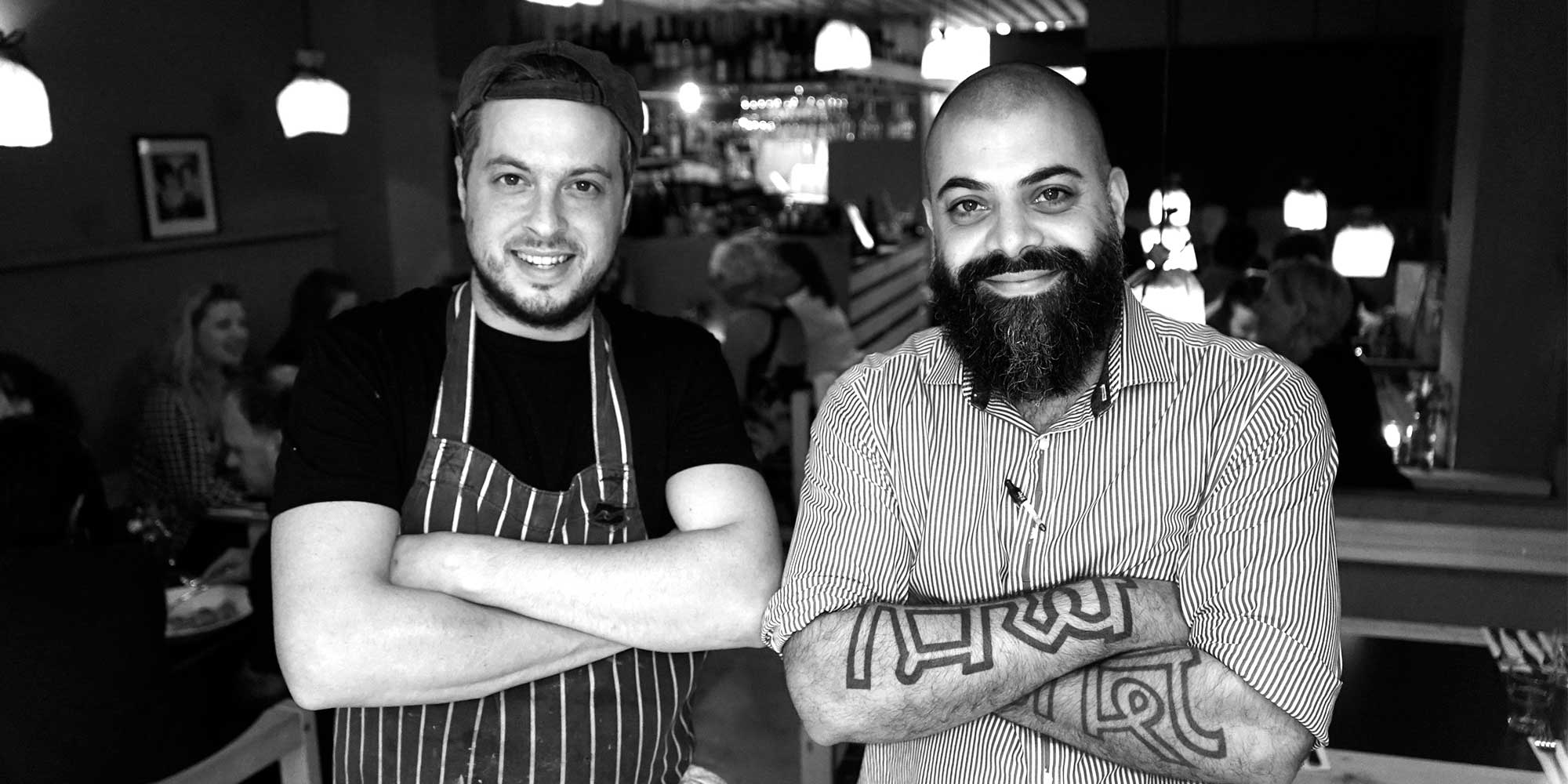 Cousins, Ben Harvey and Dominic Borel owners of Pasta Loco, Cotham Hill, Bristol