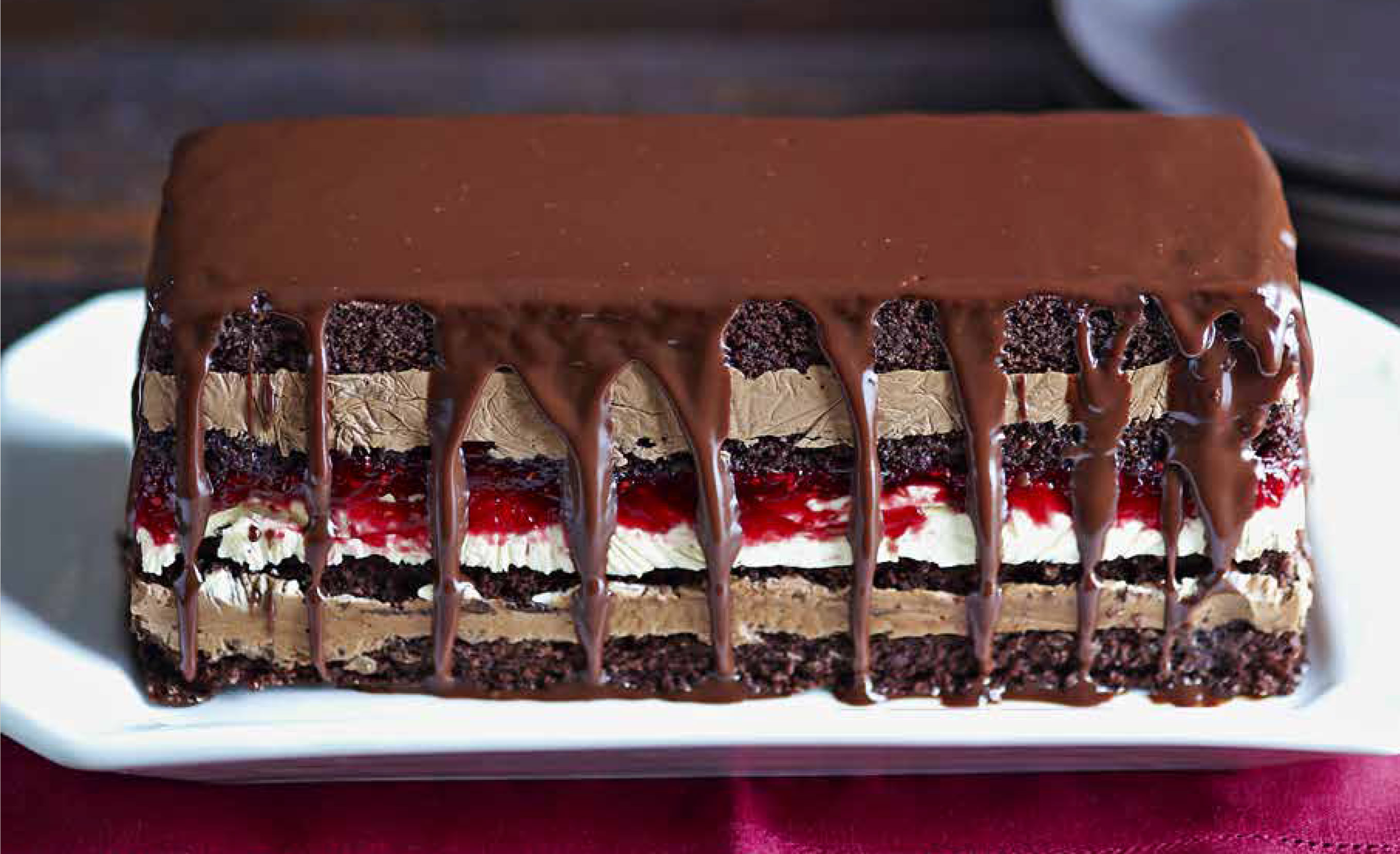An image of olive magazine's peanut butter and jam terrine