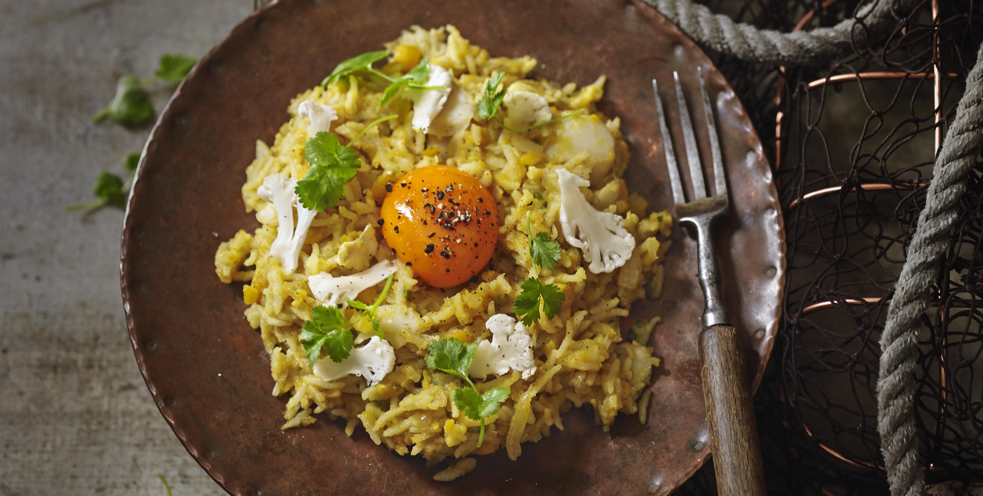 Dal Khichdi Recipe with Smoked Haddock (Indian Kedgeree)