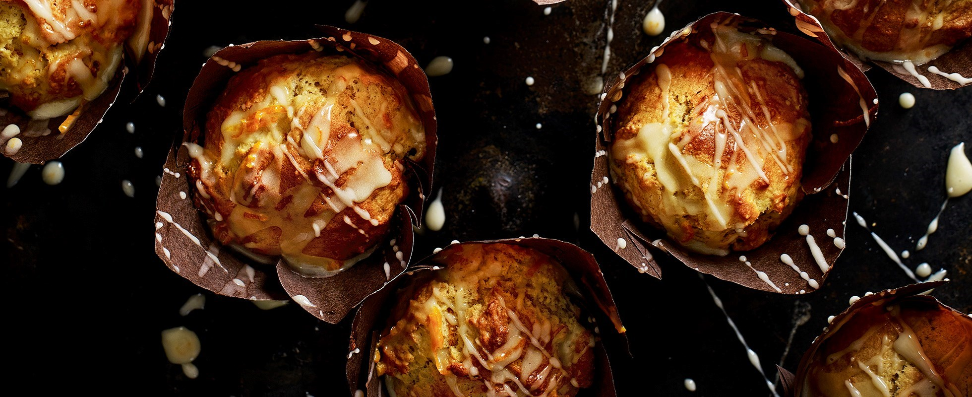 tangerine and marzinpan muffins