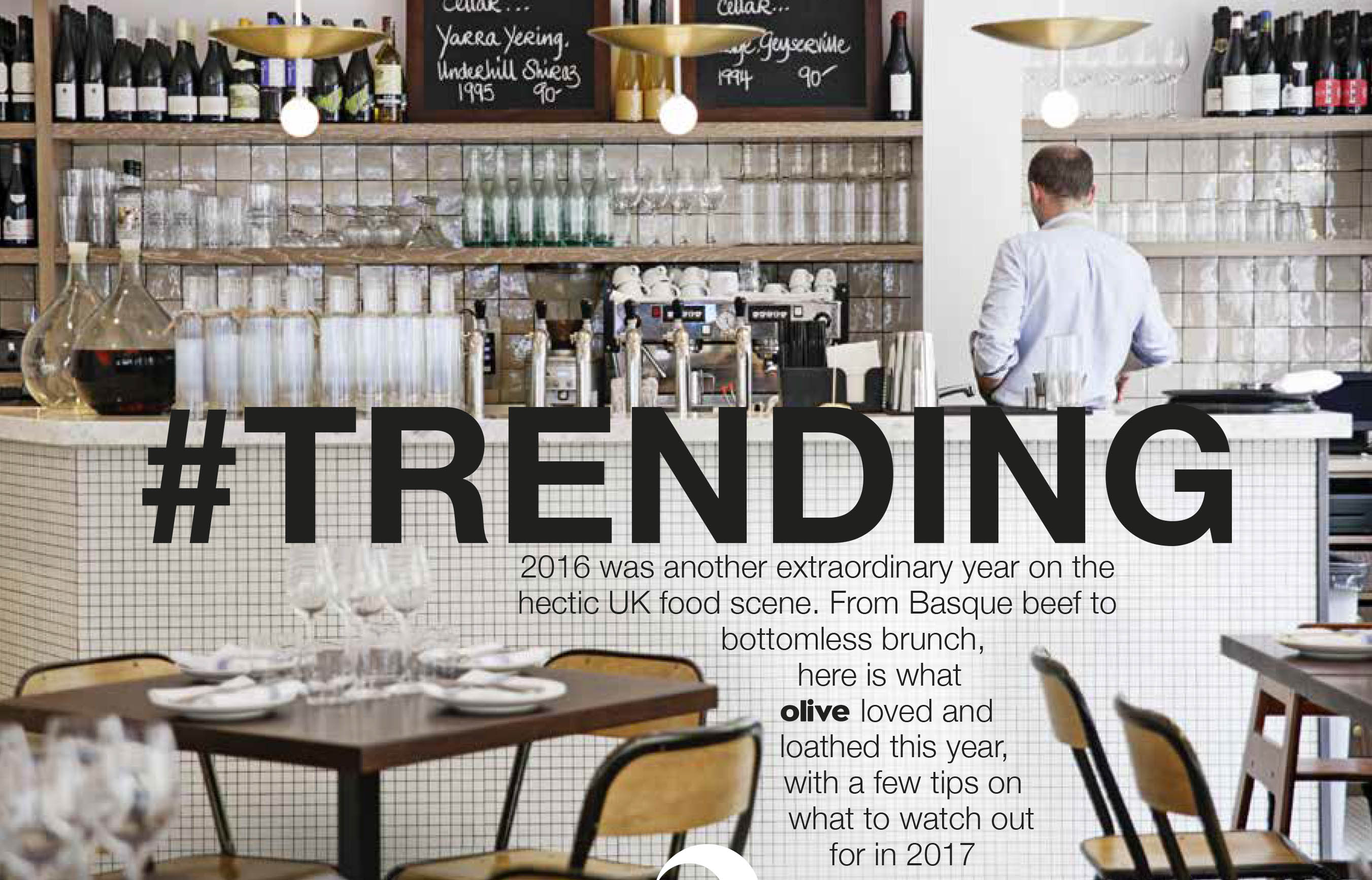 Opening page of olive magazine's Trending feature