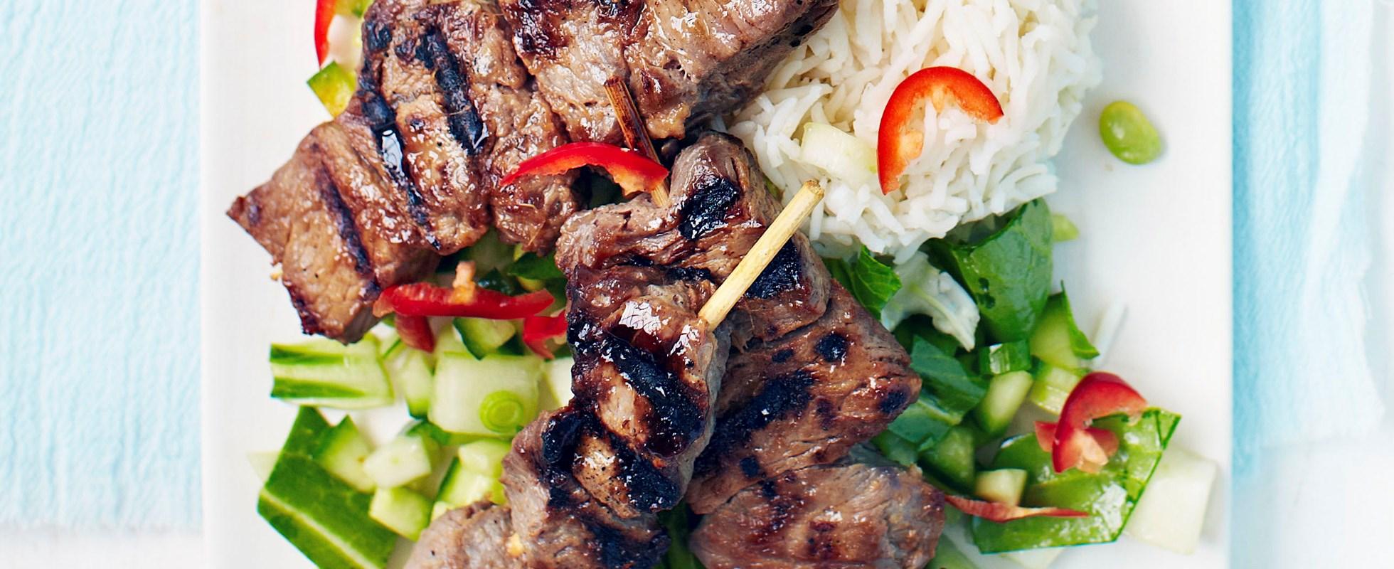 teriyaki steak skewers