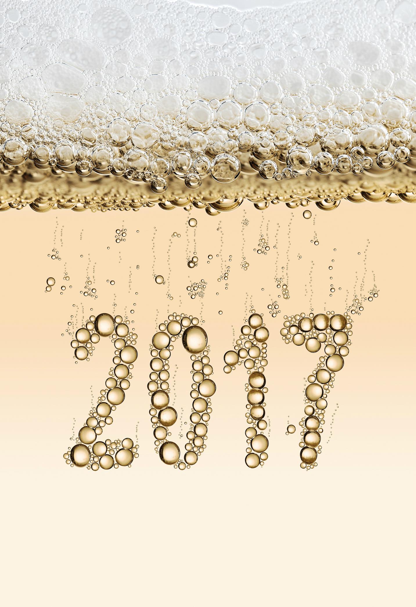 2017 written in bubbles