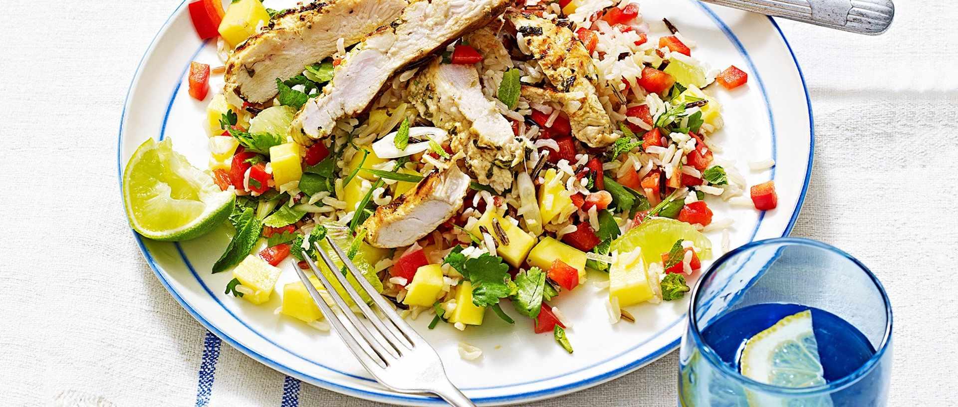 Mojito chicken wild rice salad - healthy chicken recipe