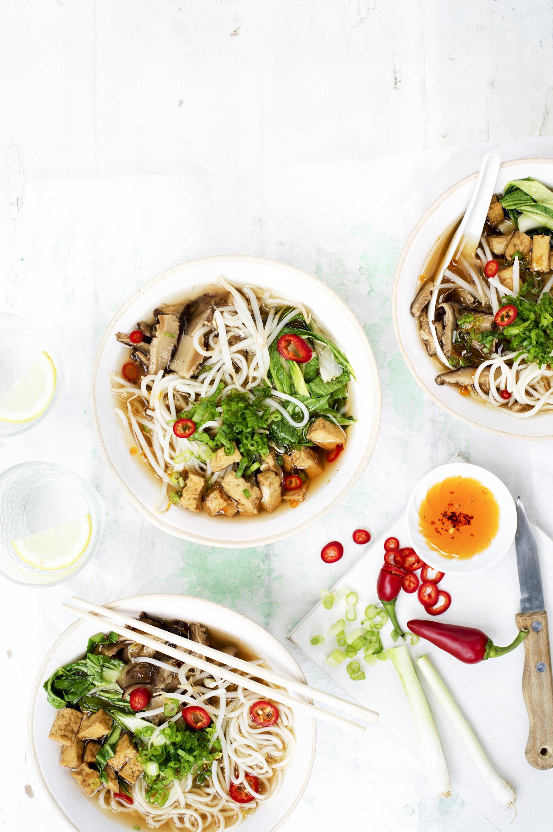 Vegan Ramen Recipe with Chilli and Tofu