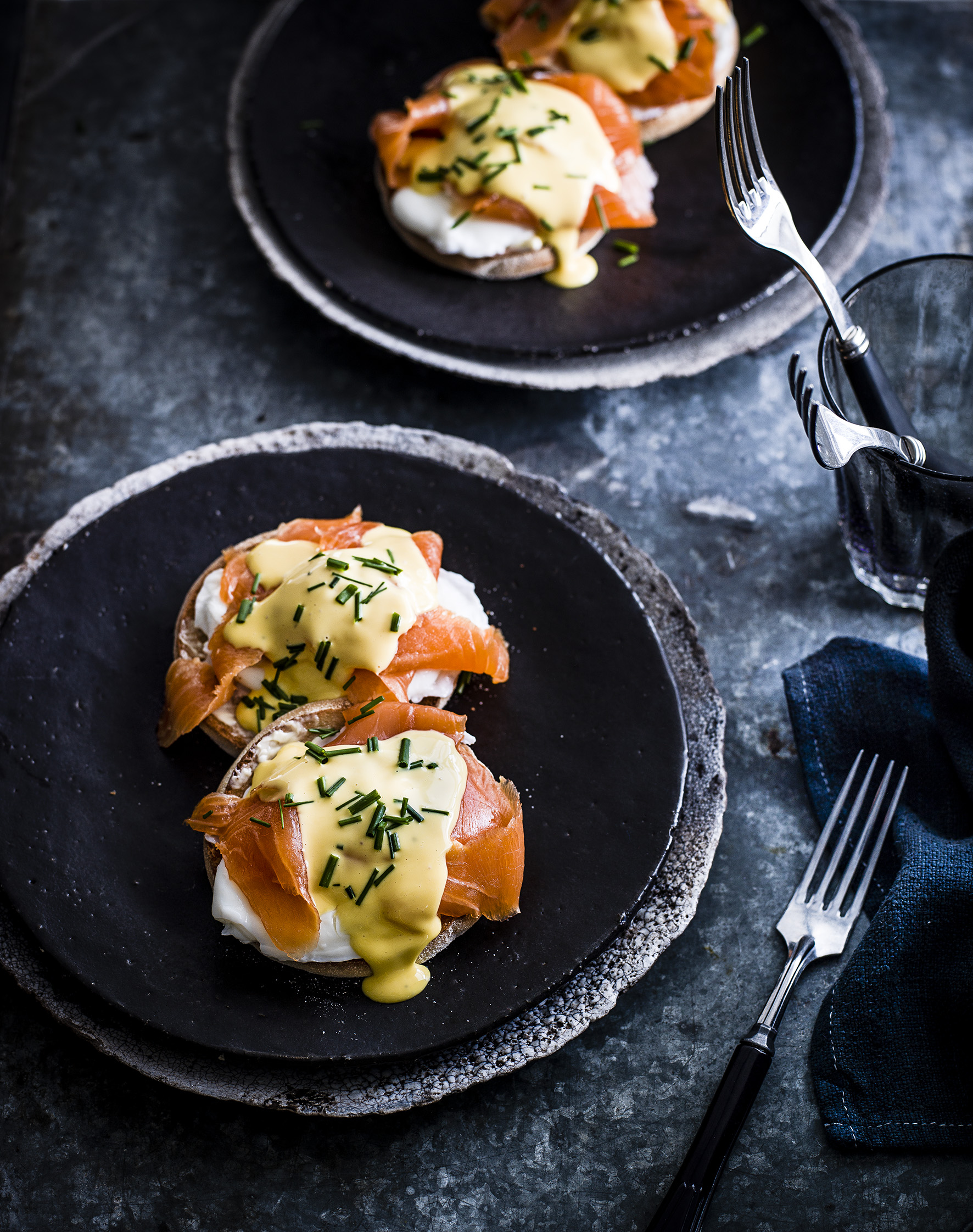 Eggs royale with trout and yuzu hollandaise