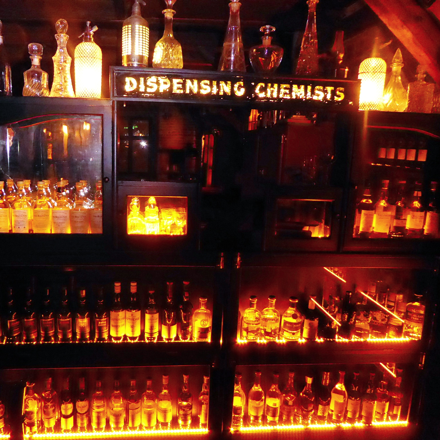 The whisky den at Lidkoeb in Copenhagen