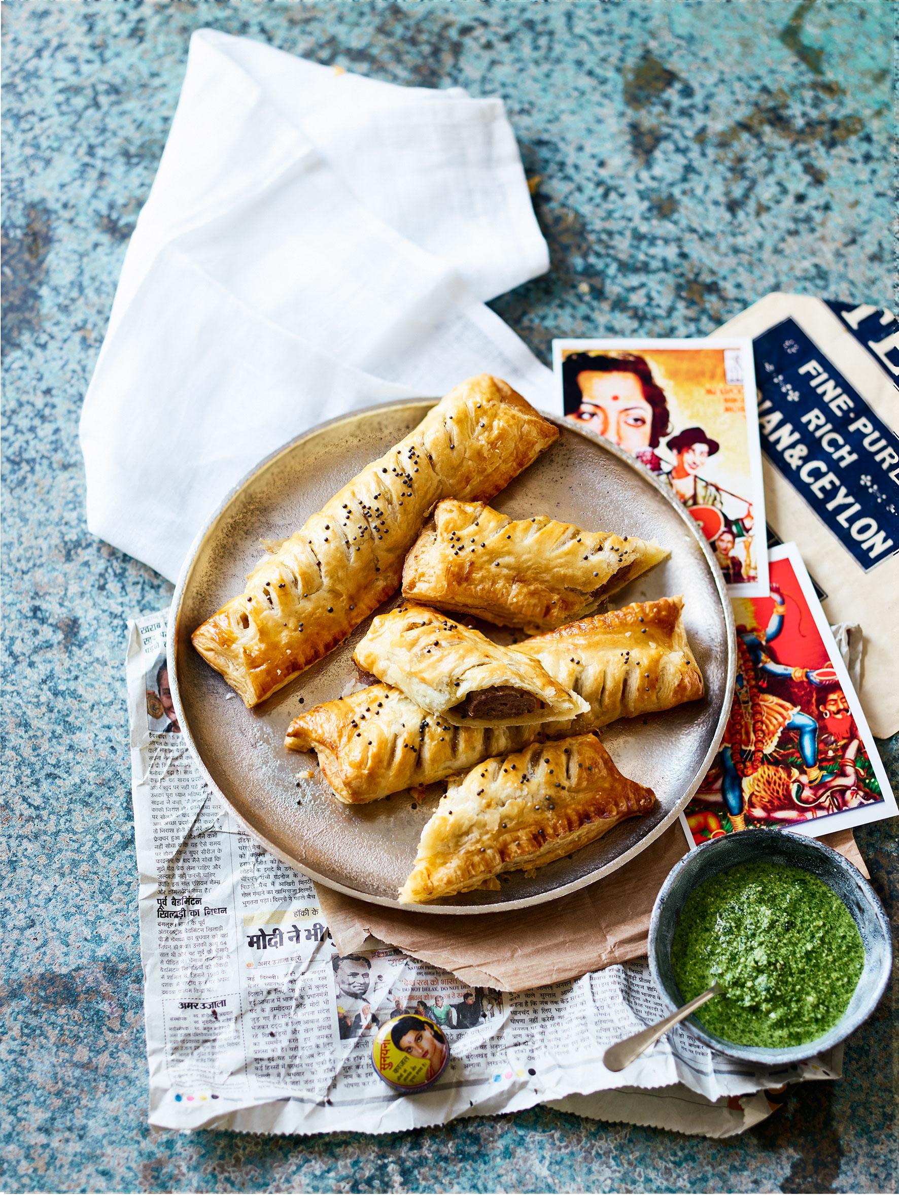 Rajasthani sausage rolls