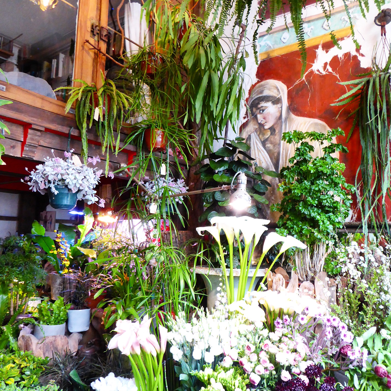 Florist on La Rue de la Grange aux Belles in Paris
