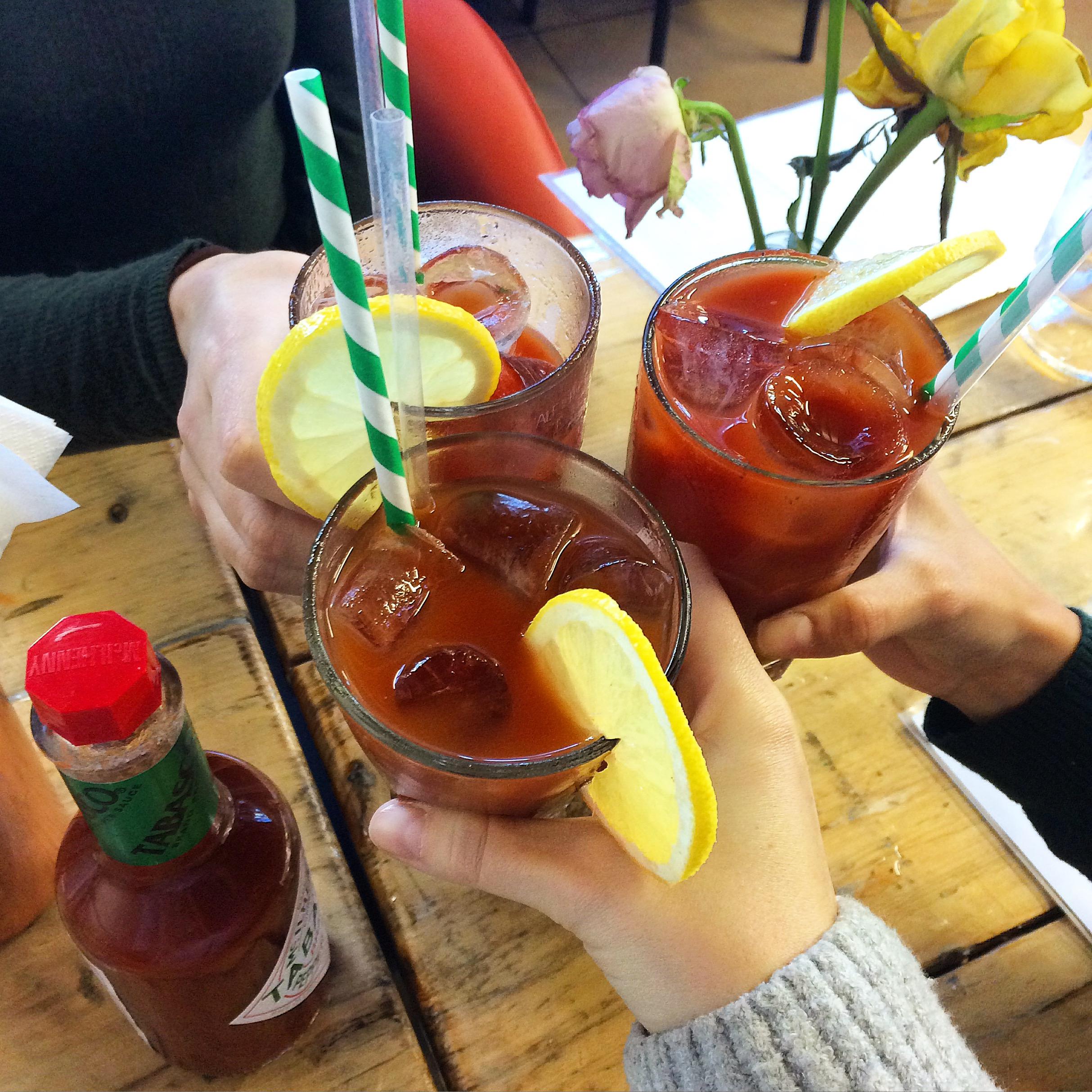 Bloody Marys at Beany Greens, Little Venice