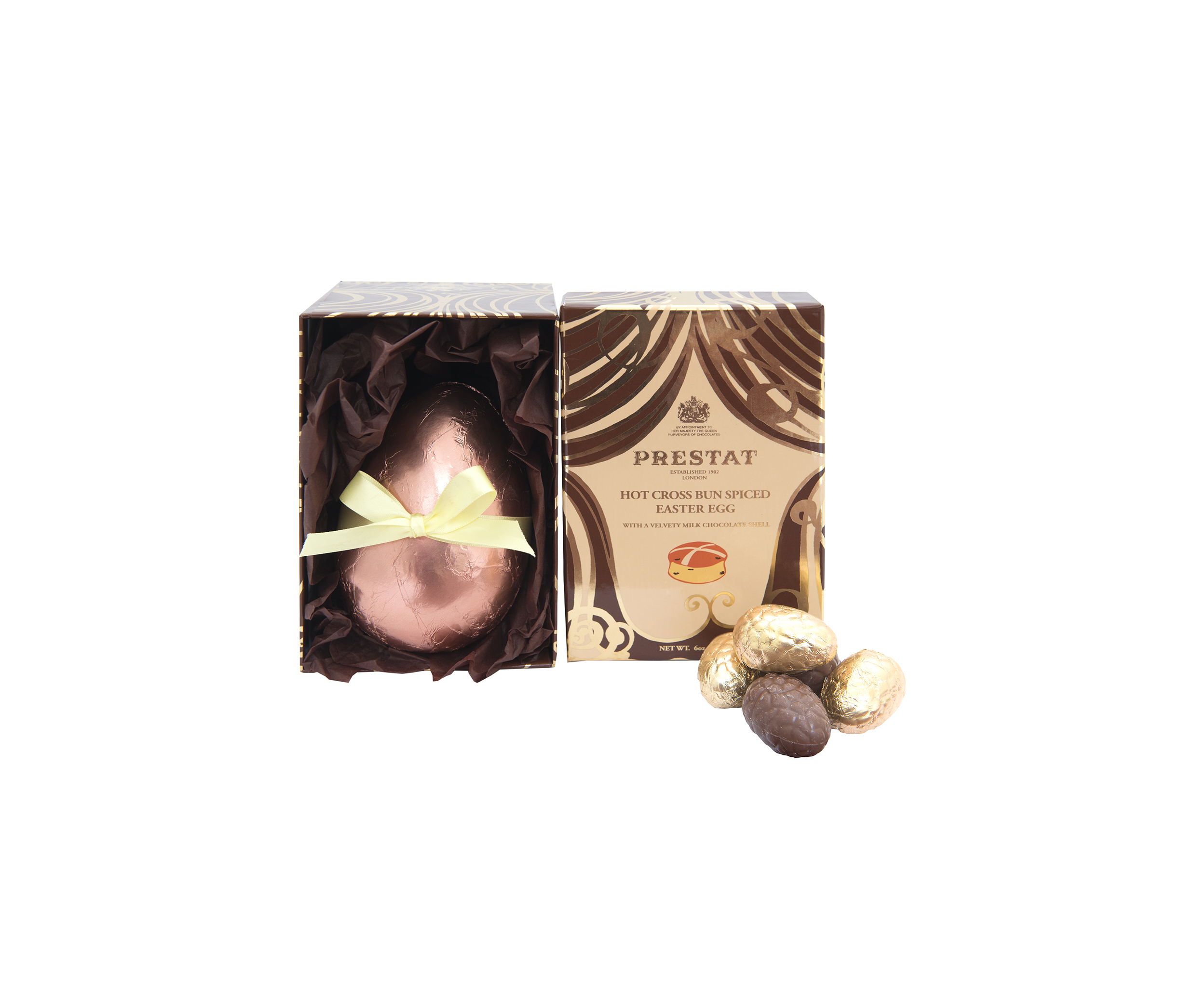 pMilk Chocolate Hot Cross Bun Spiced Easter Egg £17.50 - Prestat (2)