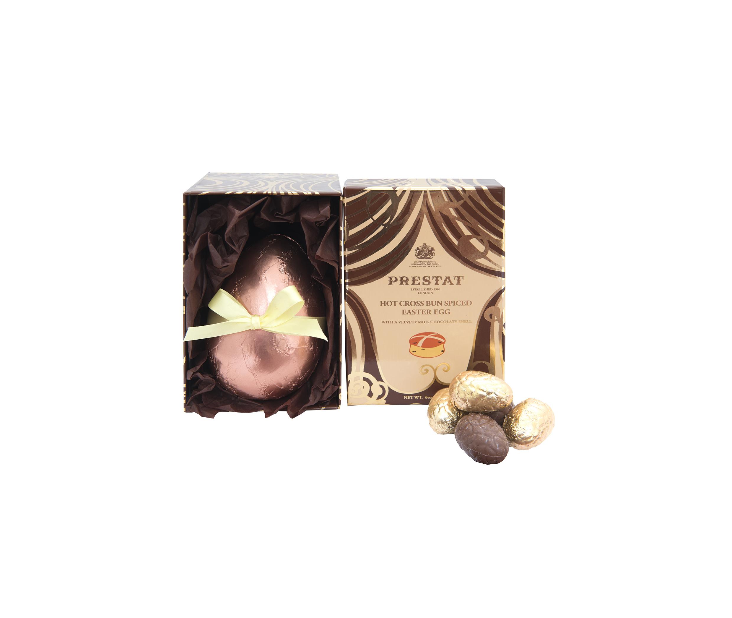 pMilk Chocolate Hot Cross Bun Spiced Easter Egg £17.50 - Prestat (2)