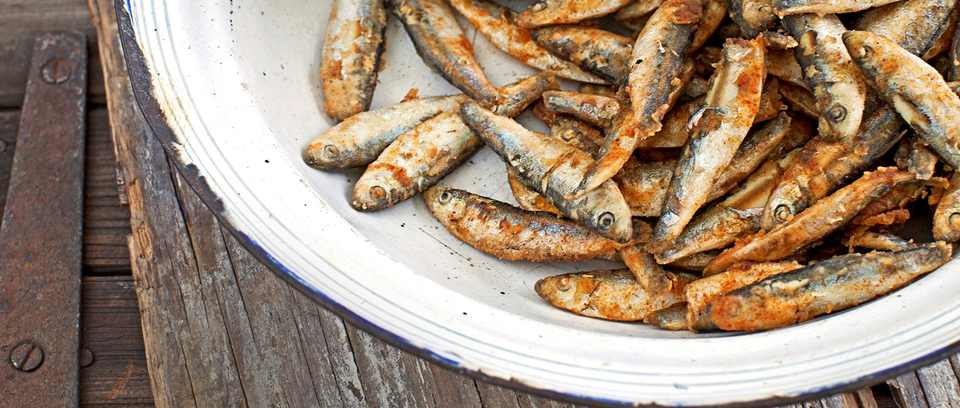 Artichoke and white bean dip with whitebait