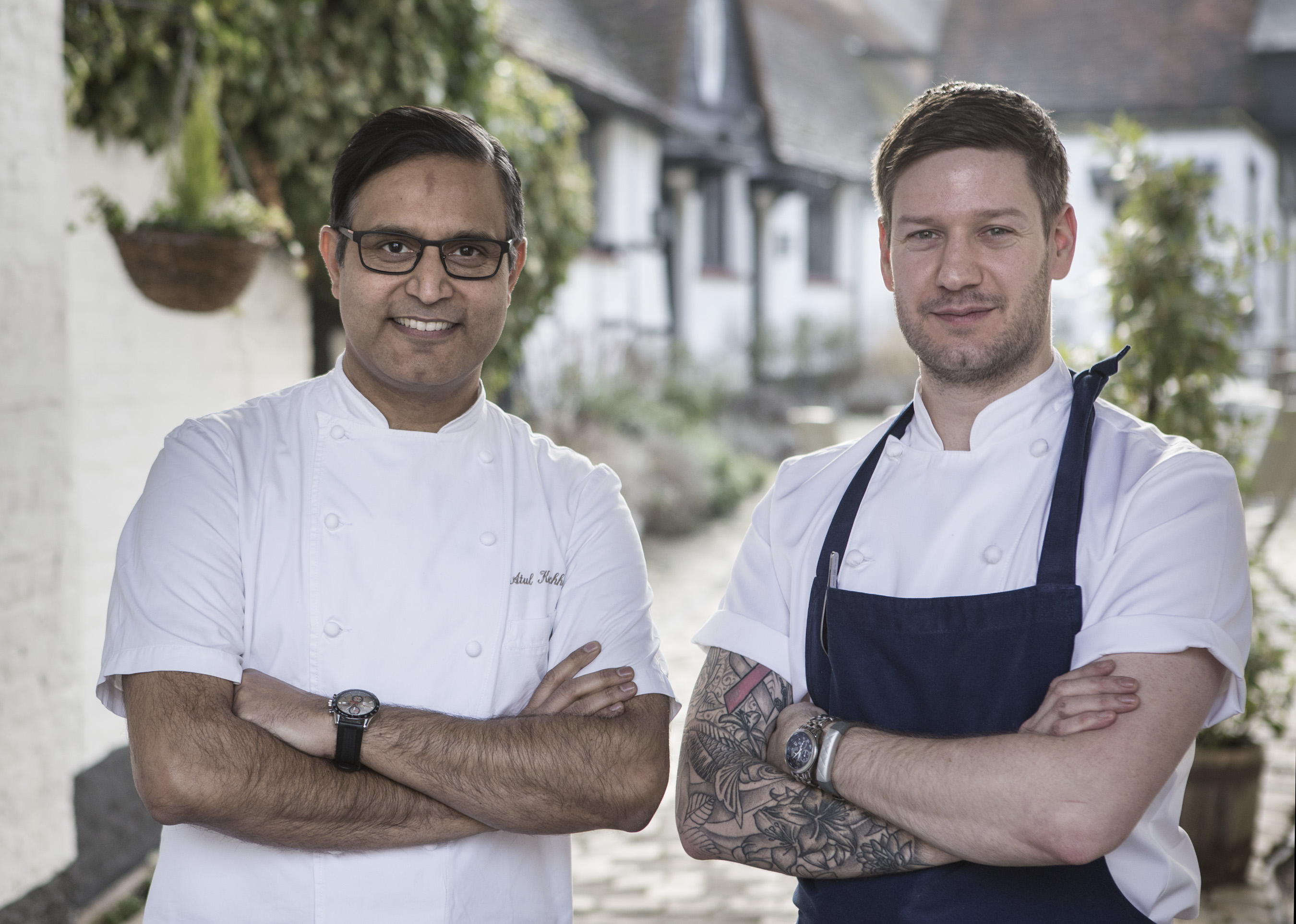 Chefs Atul and Ross, Hawkyns restaurant