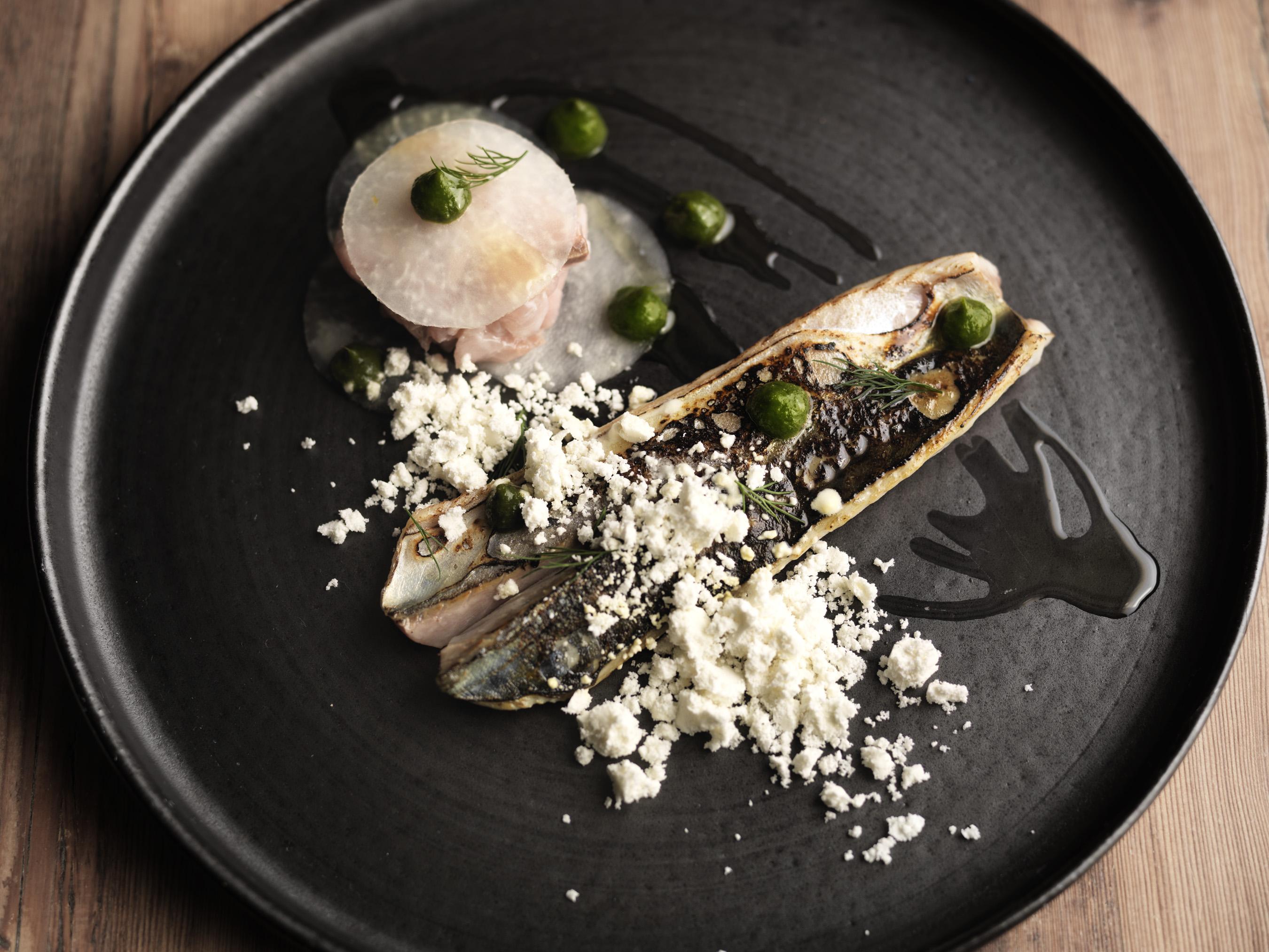 Mackerel at Hawkyns Restaurant