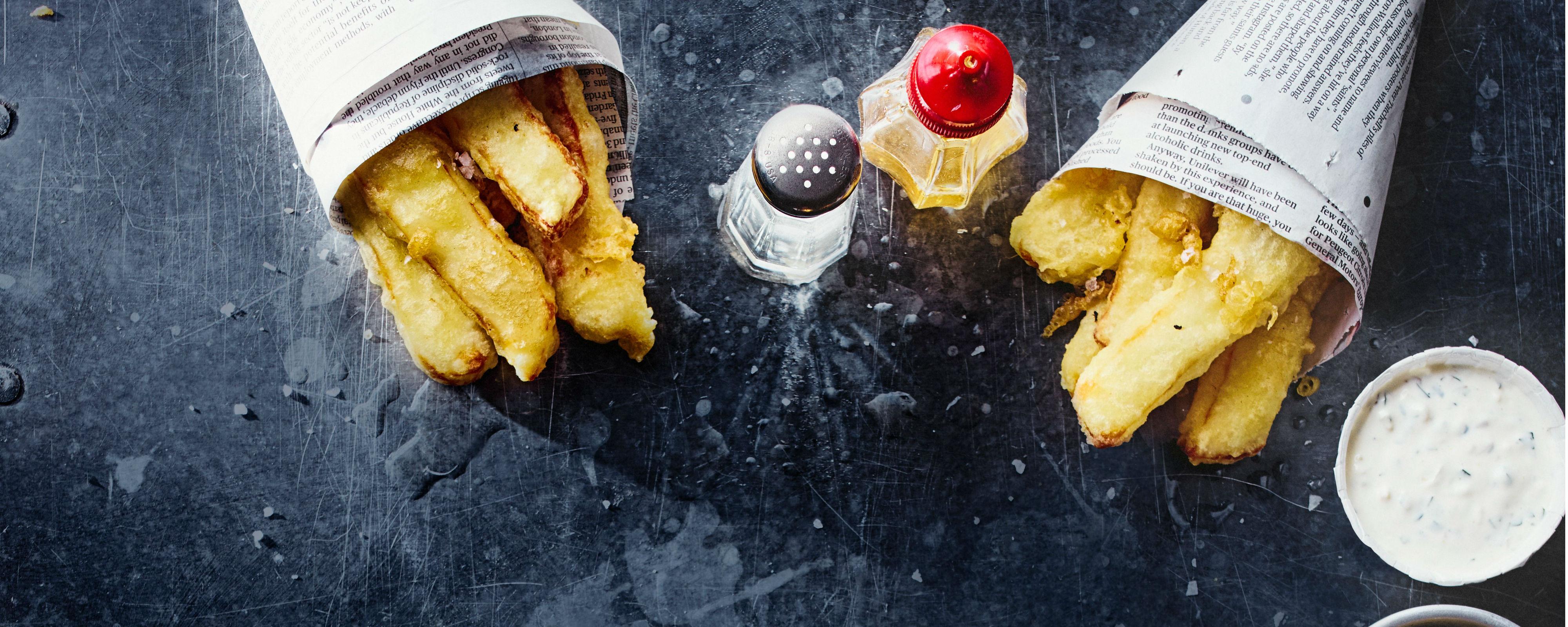 Halloumi fries with salt and vinegar